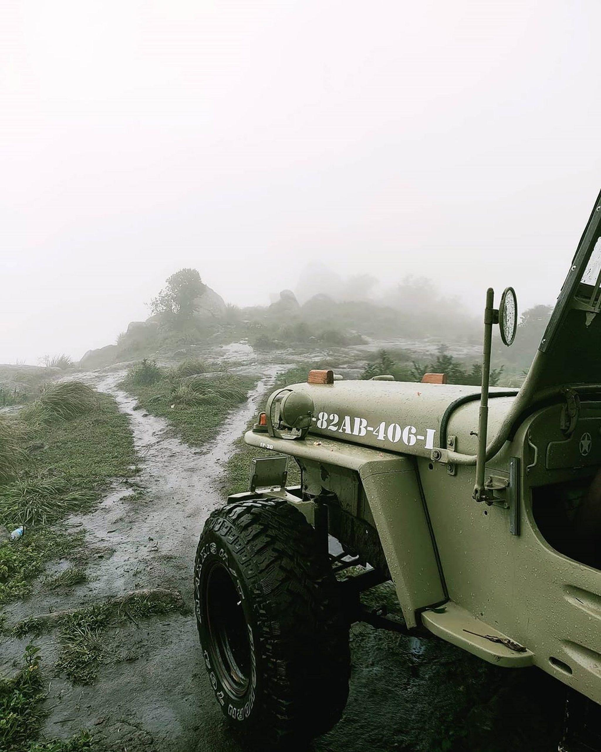 Jeep in the Rain