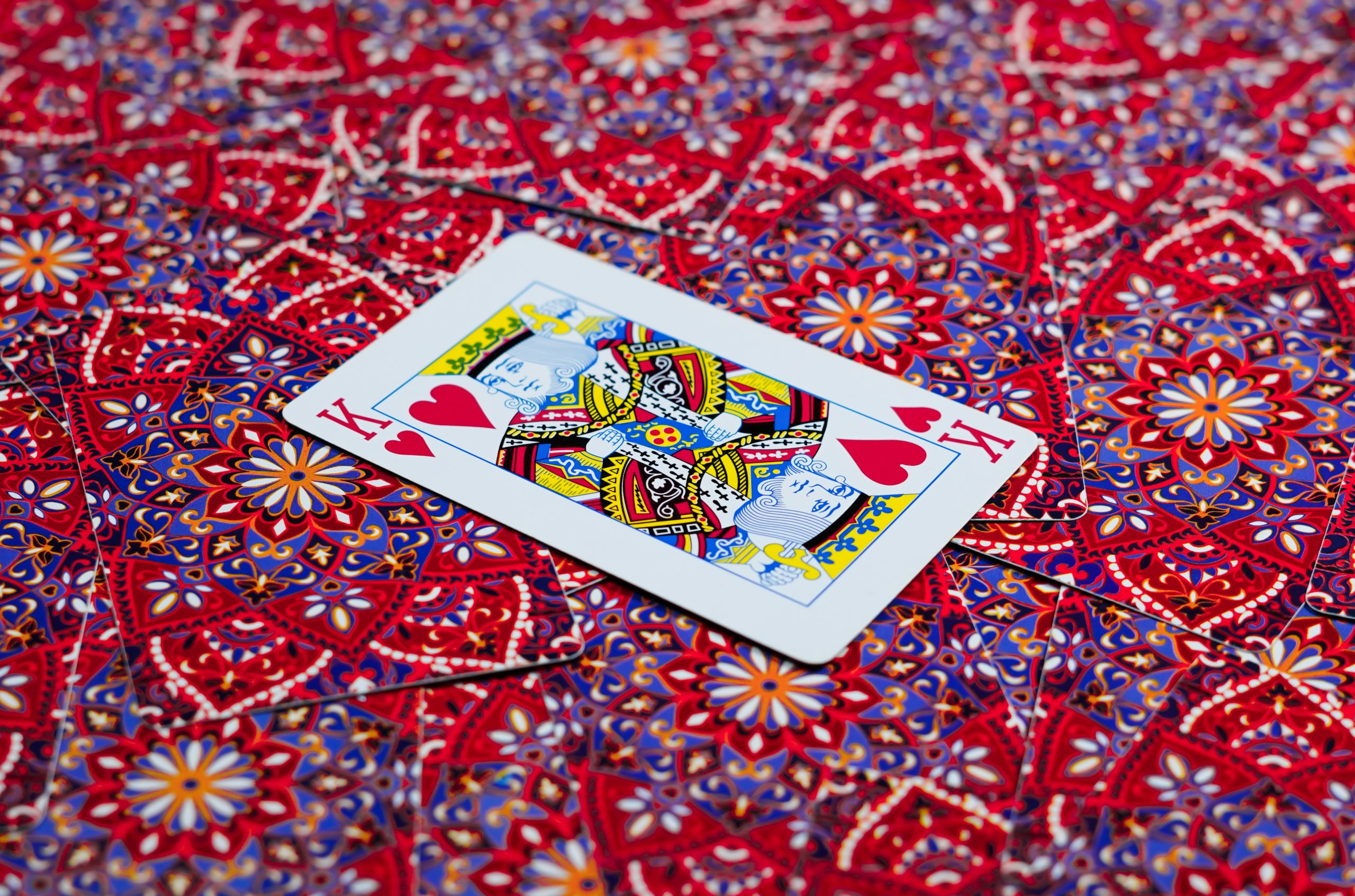 King of hearts in cards