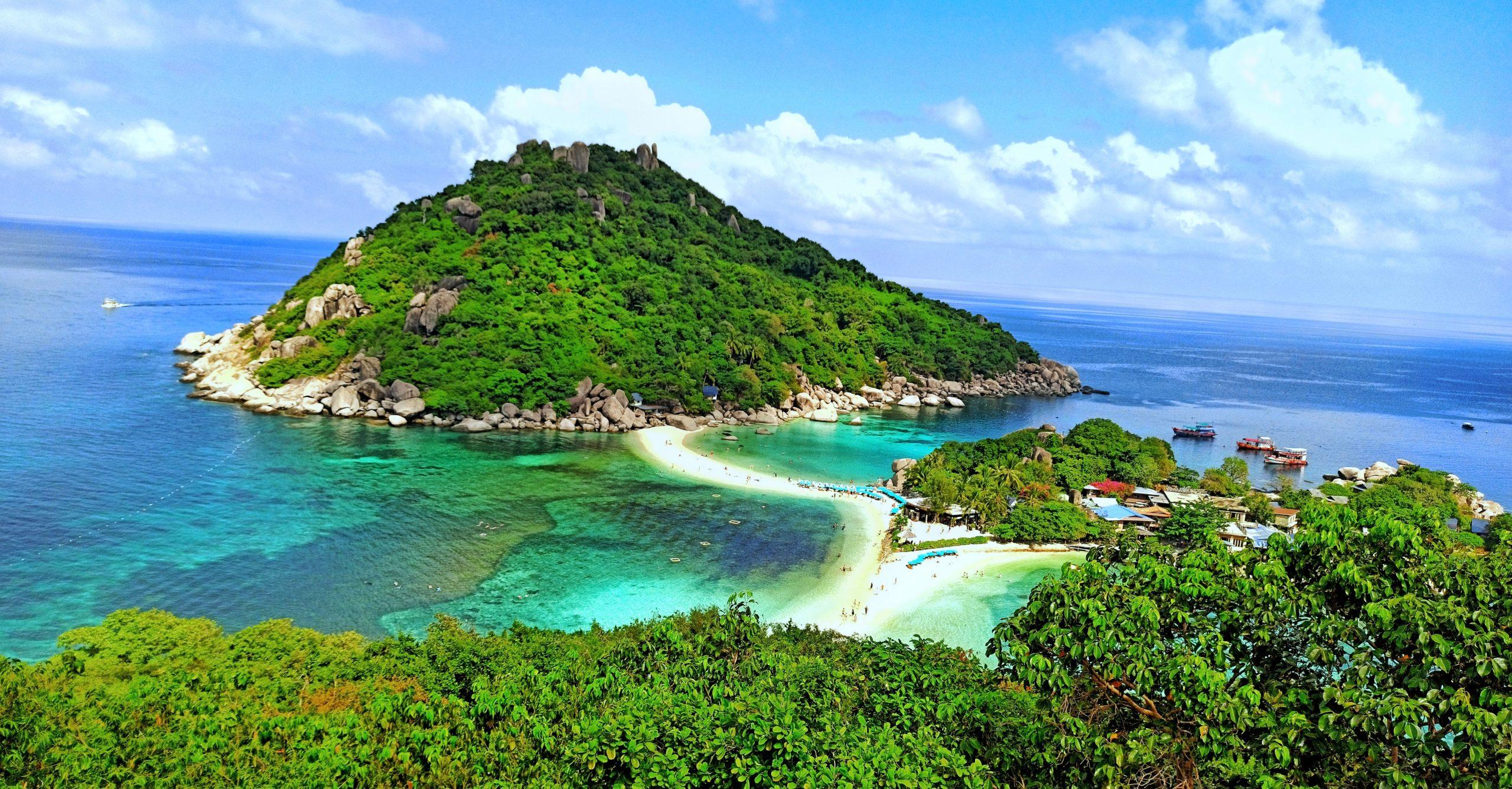 Koh Nang Yuan island in Thailand