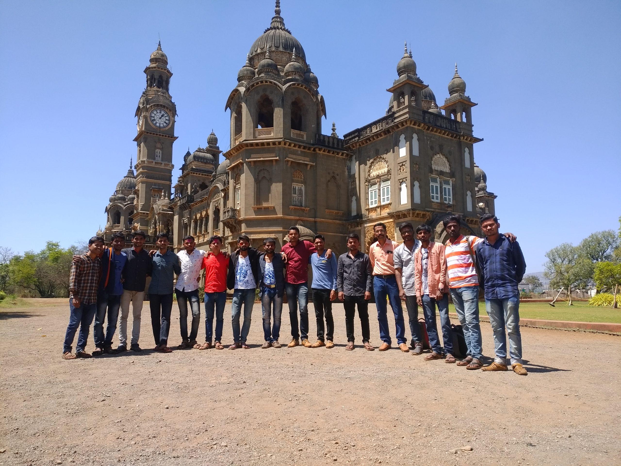 group of boys at new palace, kolhapur
