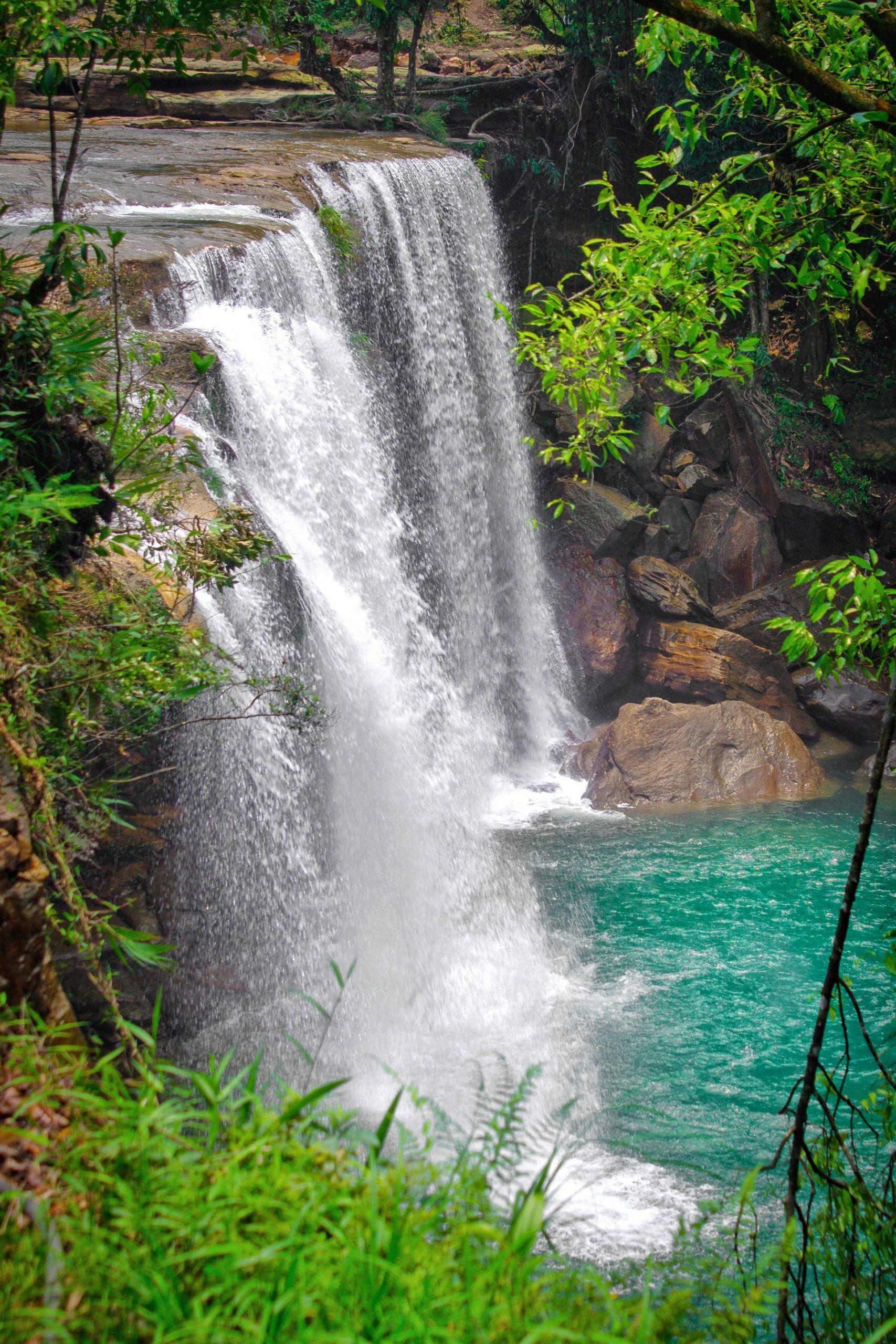 Krangshuri Waterfalls in Meghalaya