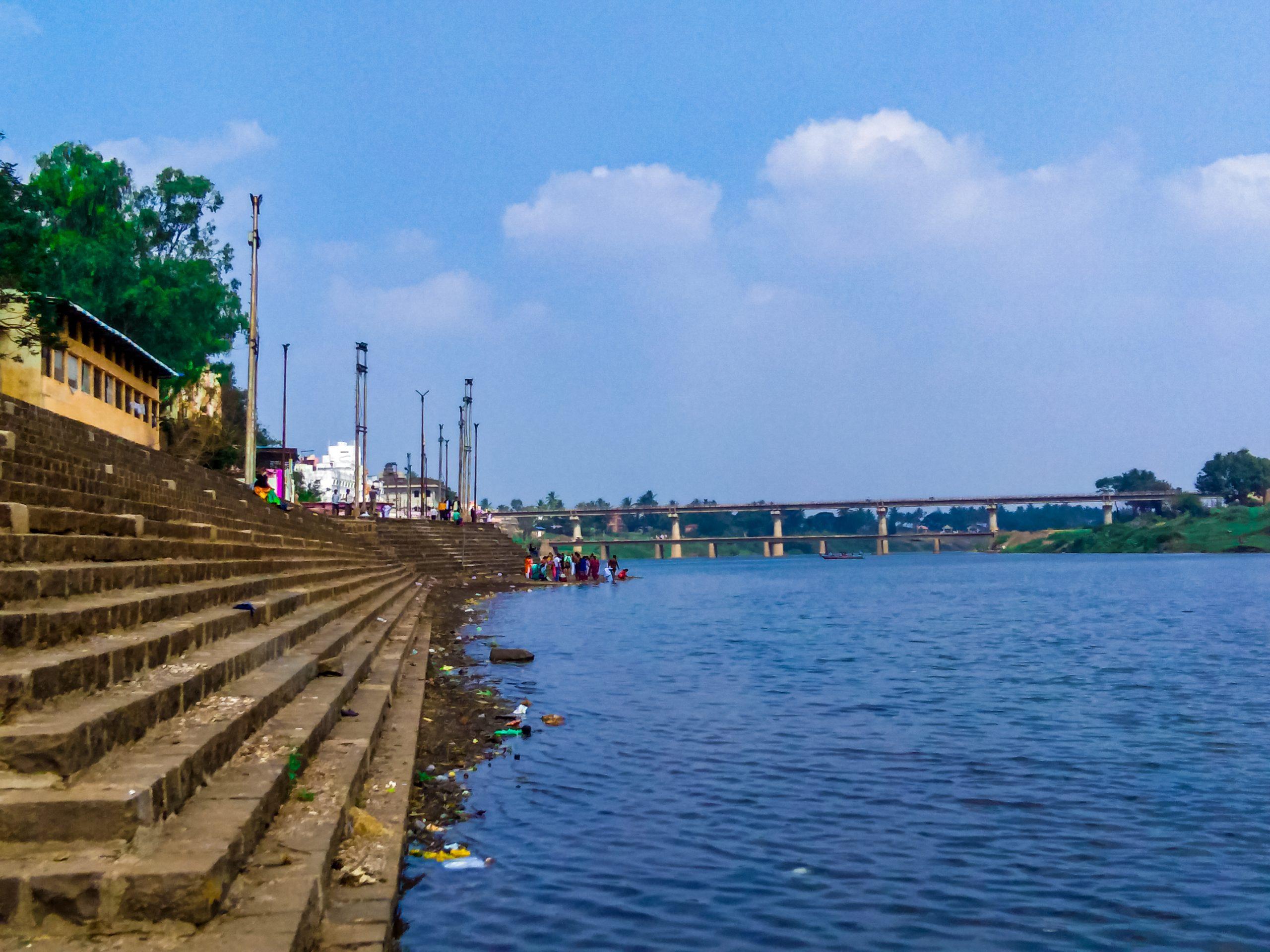 Krishna River ghat in Maharashtra