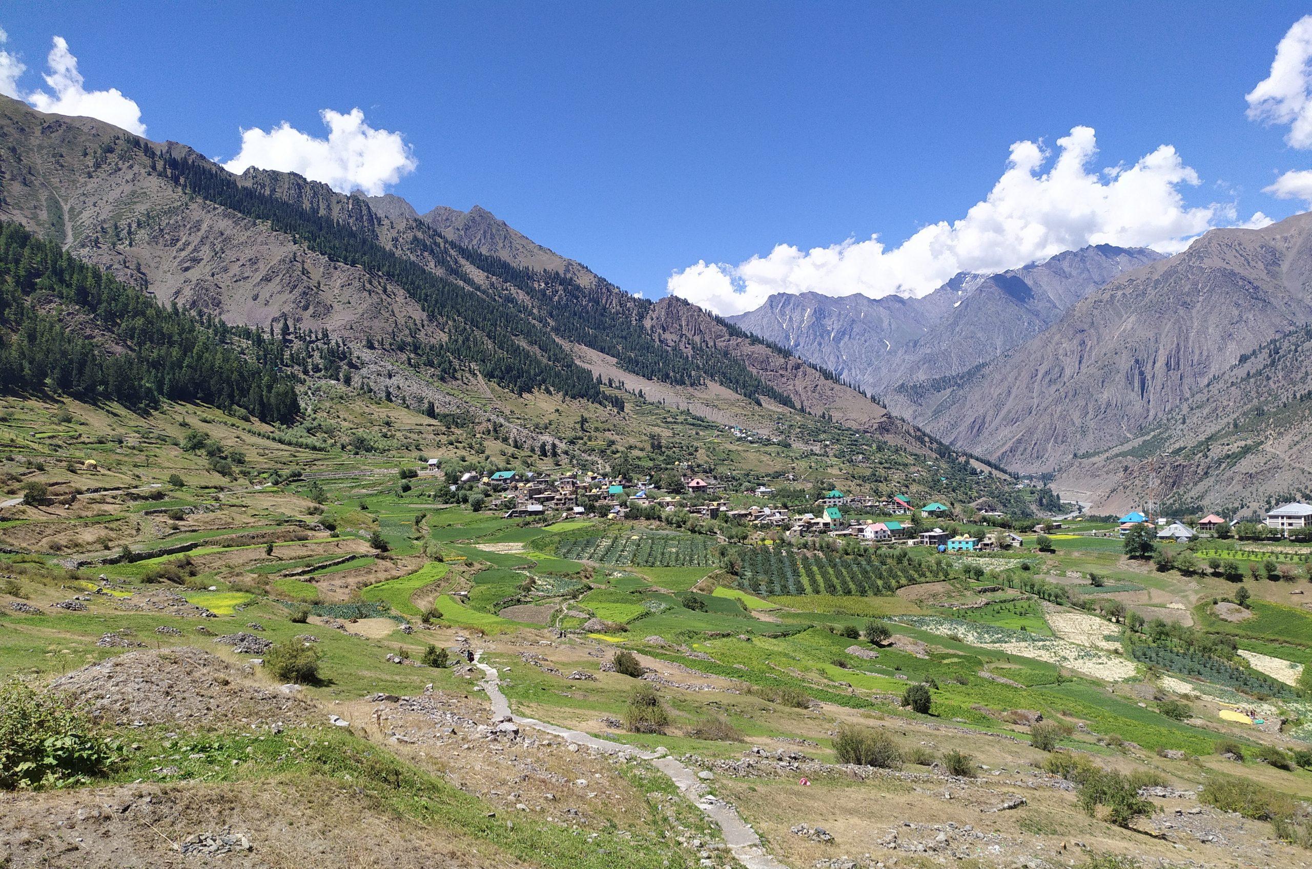 Village near mountain
