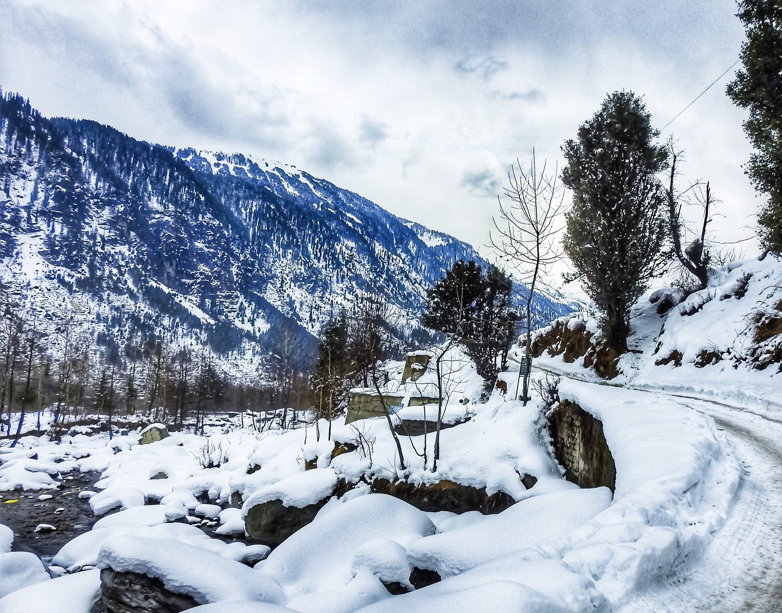 Land covered by snow