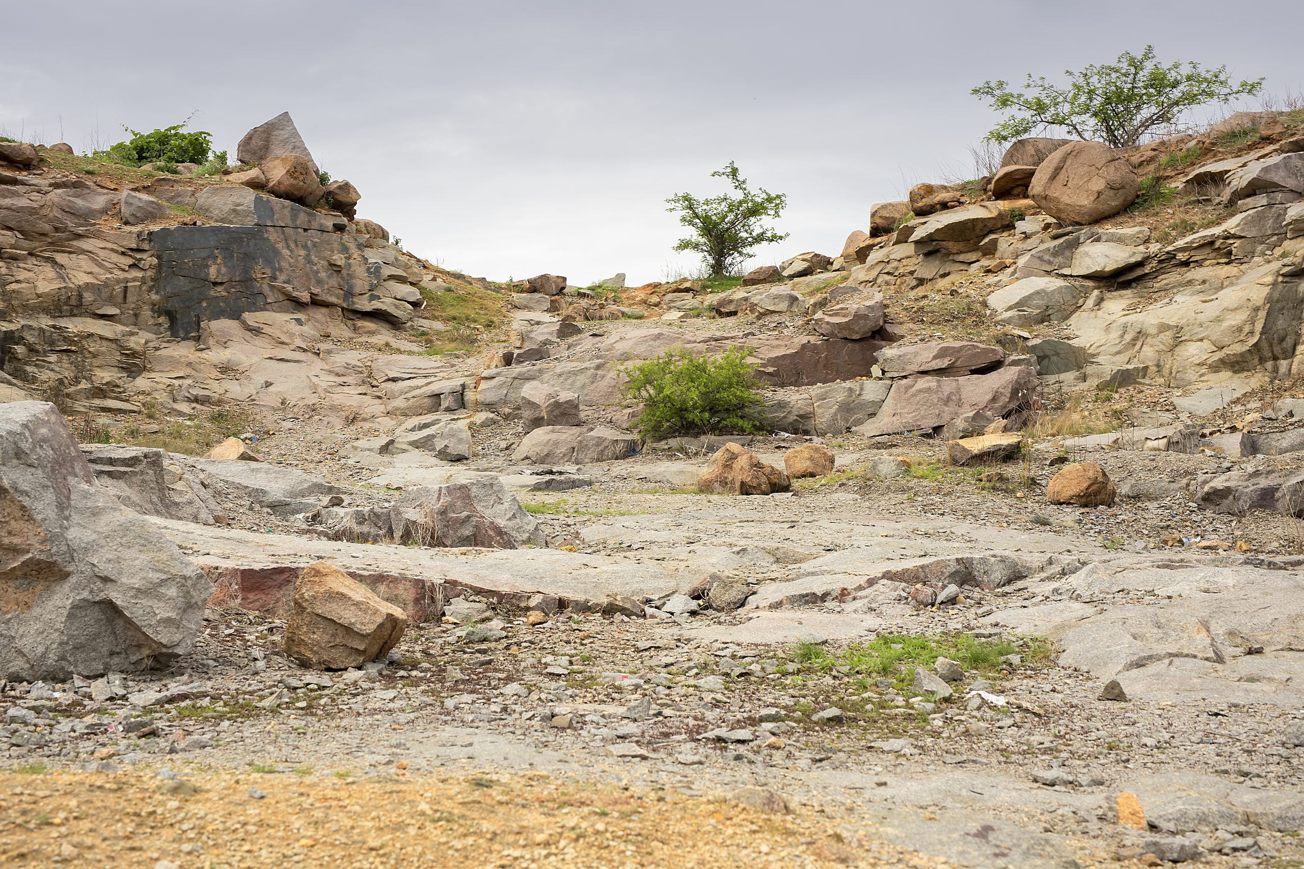 Rugged and dry terrain