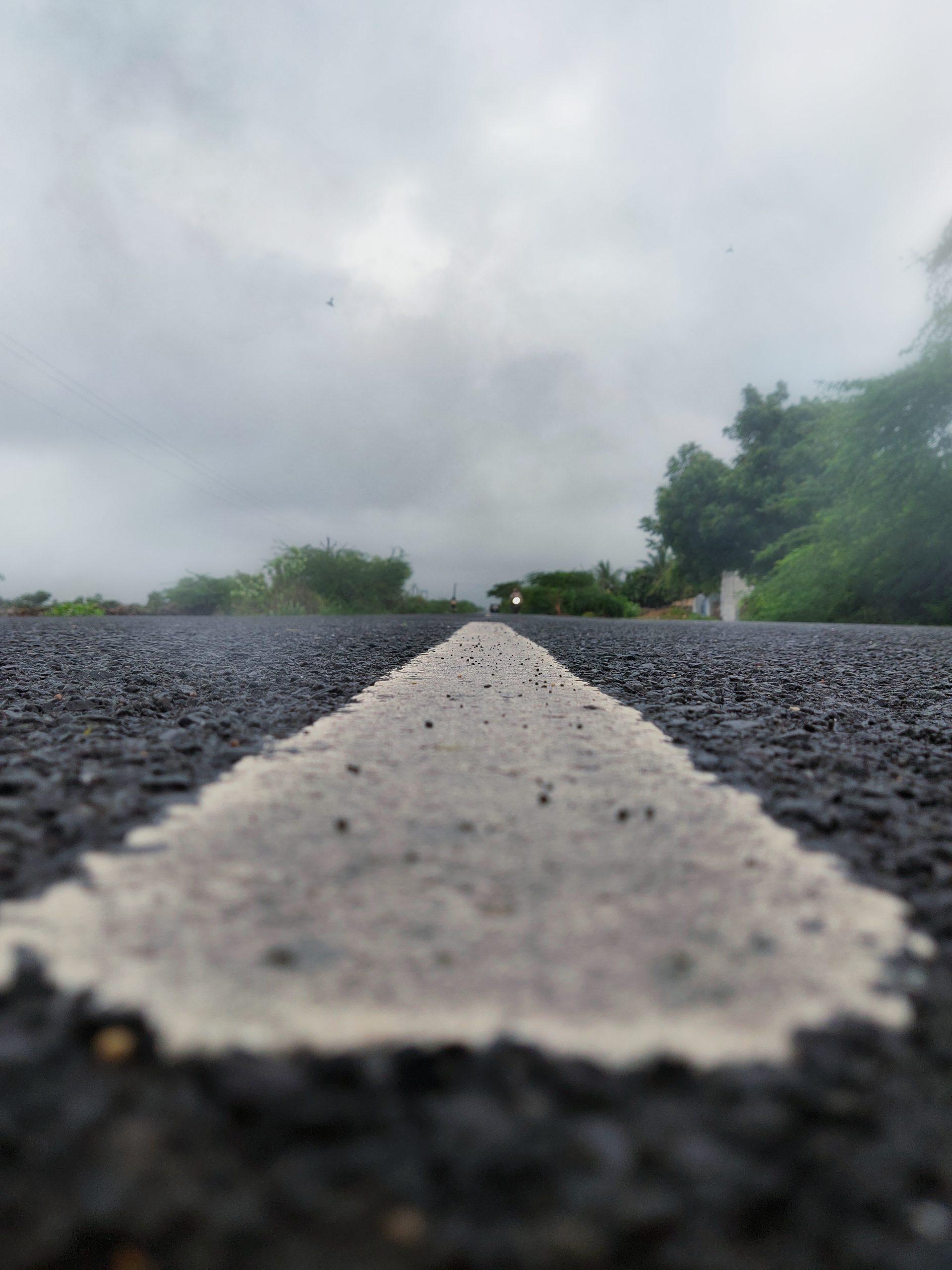 Lane Markings in Porbandar Road