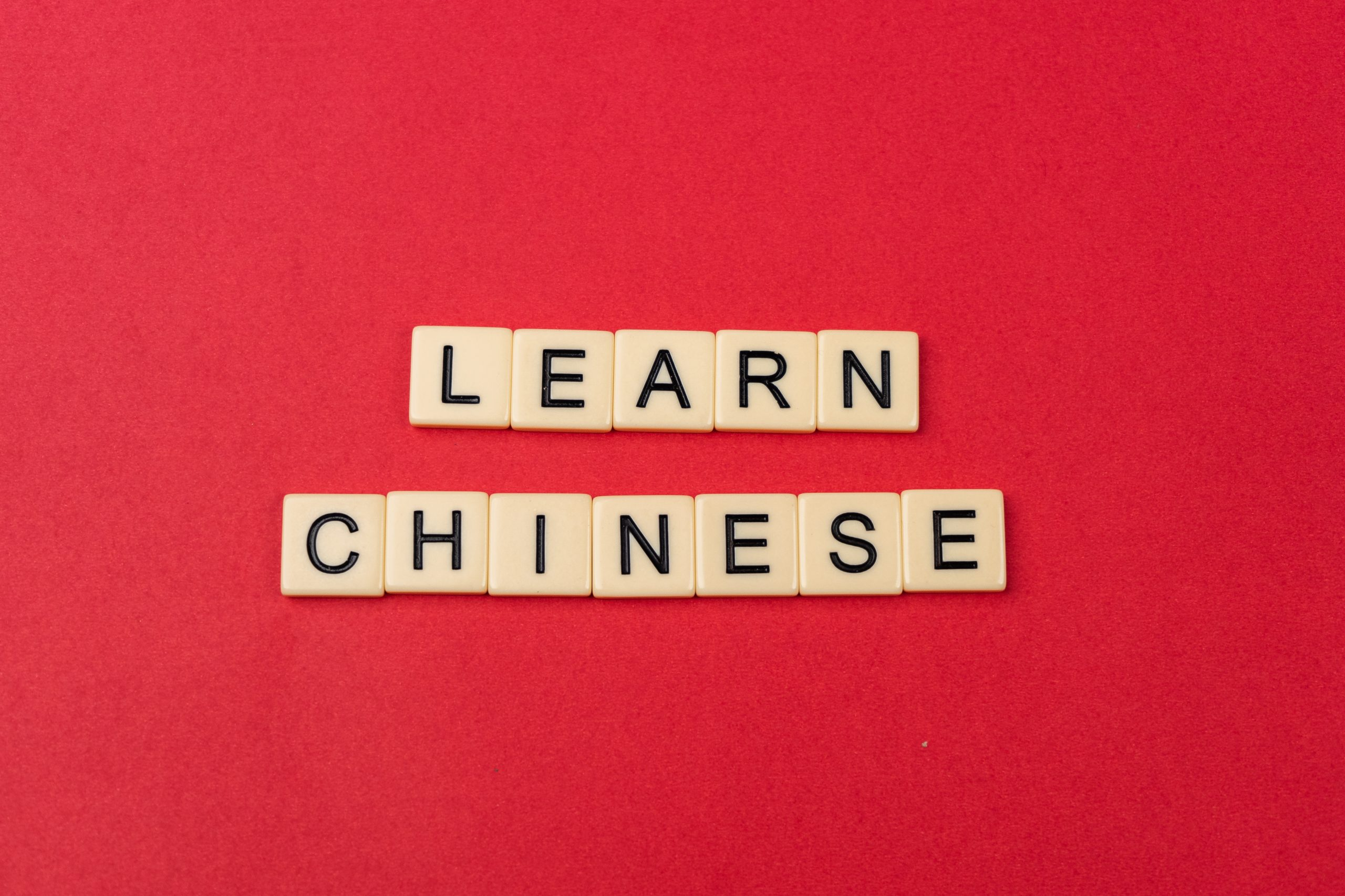 Learn Chinese written with scrabble