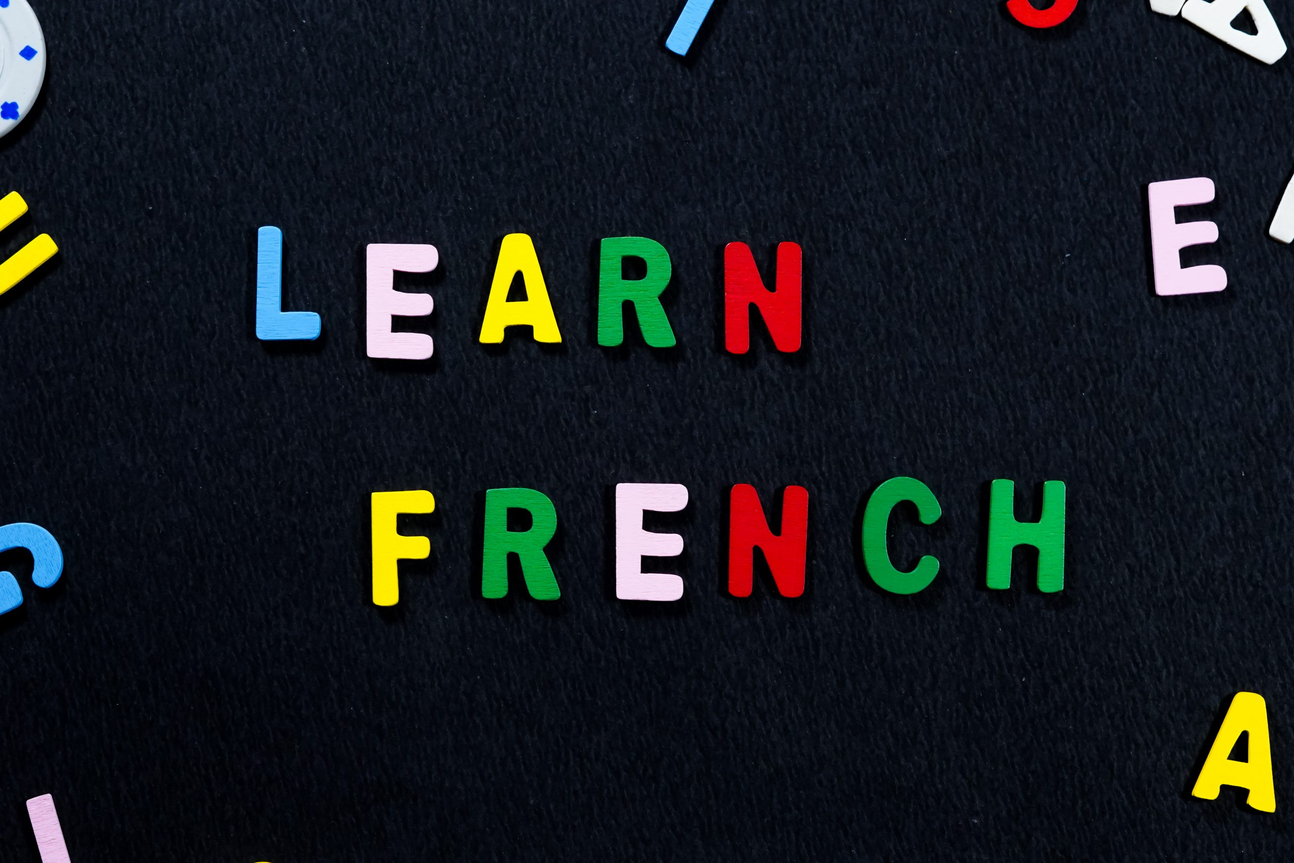 An advertisement for learning French