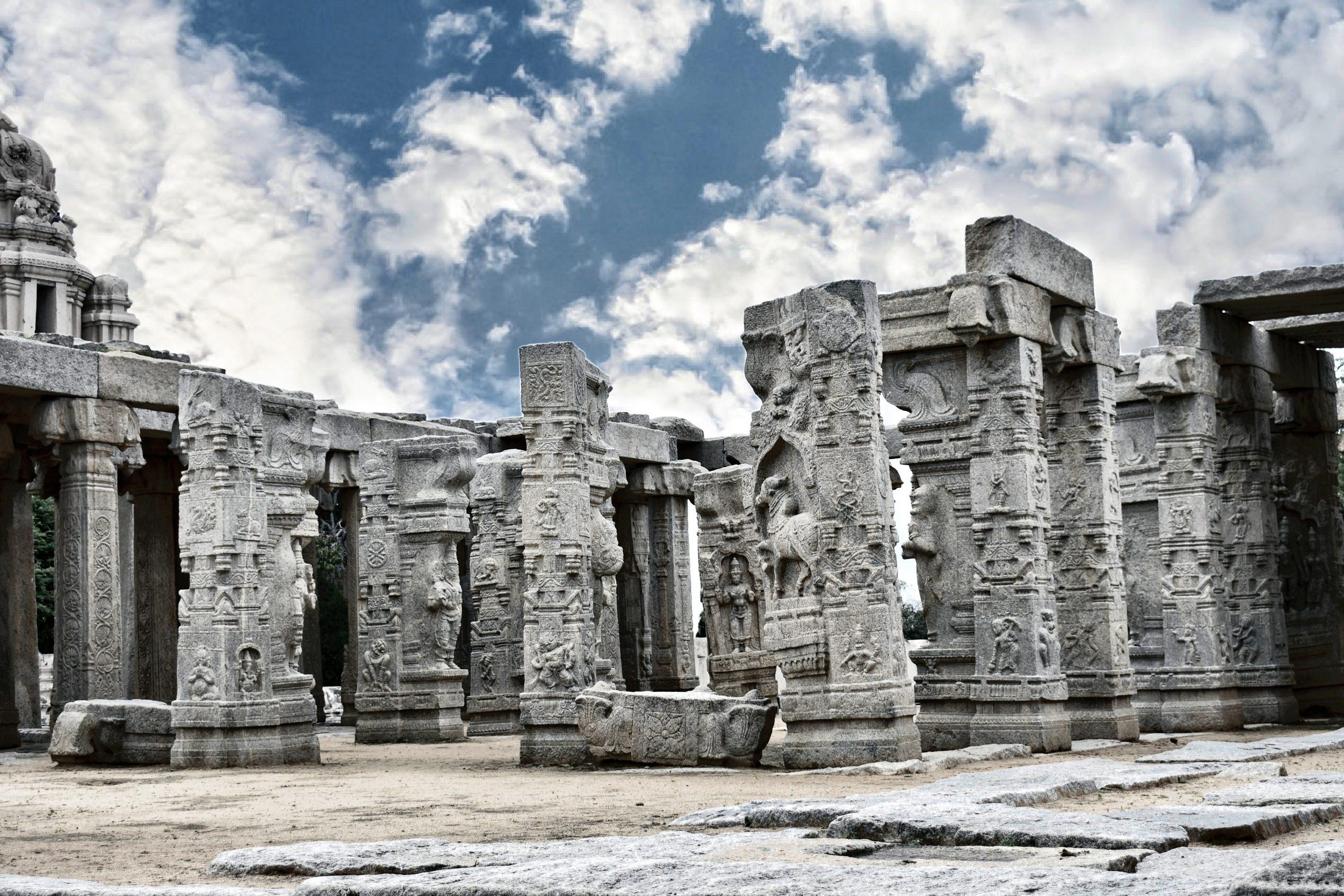 pillars at temple