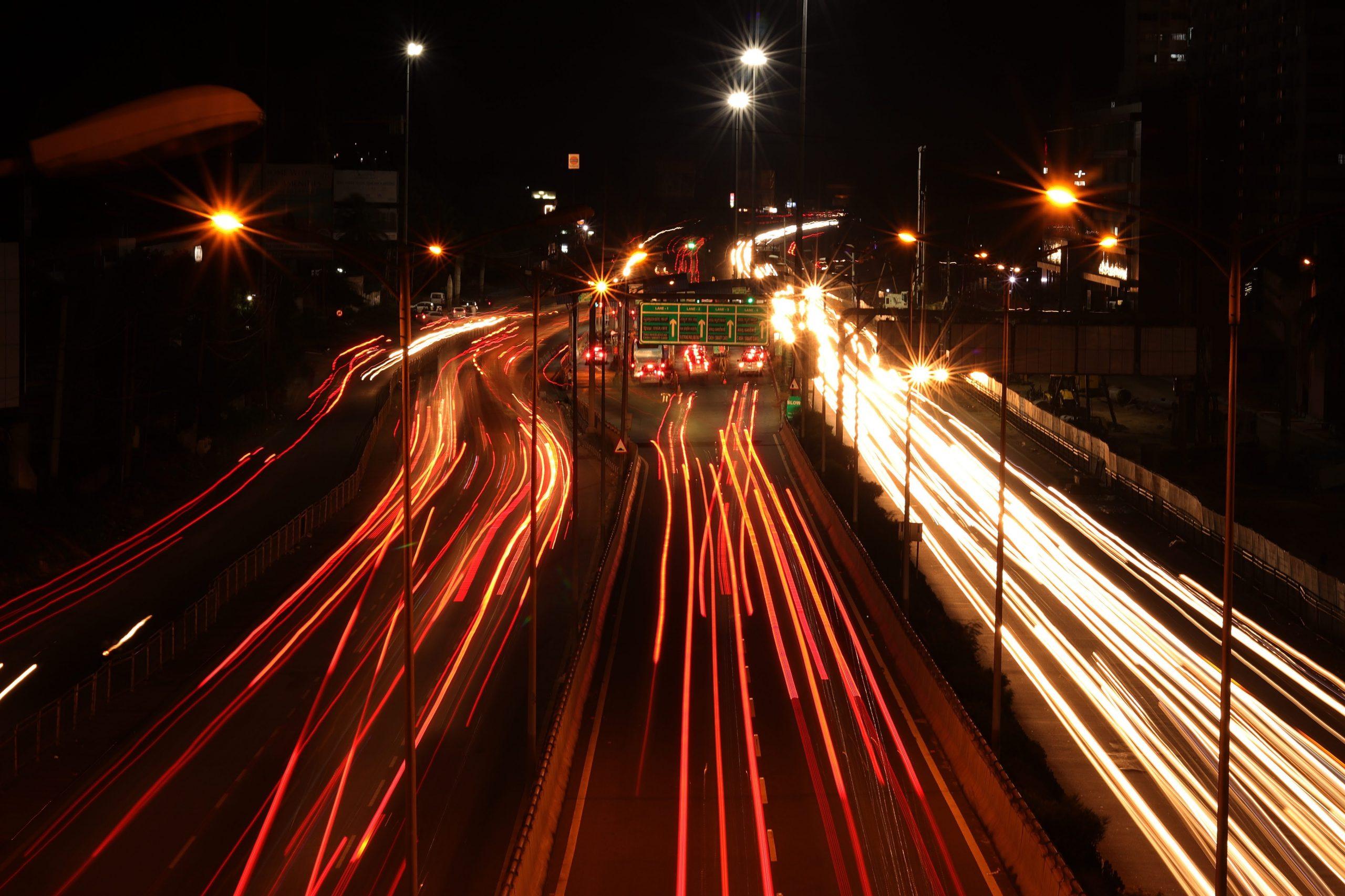 City at night- Bangalore.