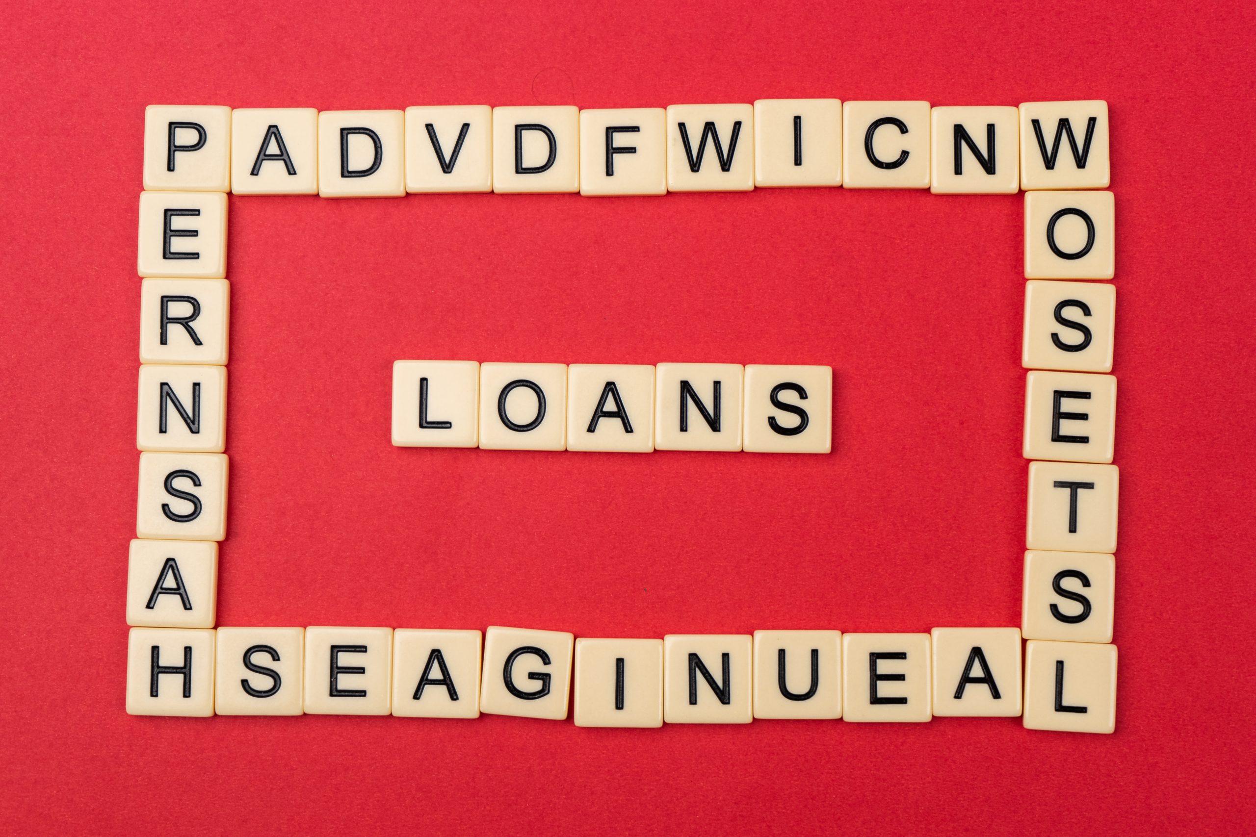 Loans written on scrabble