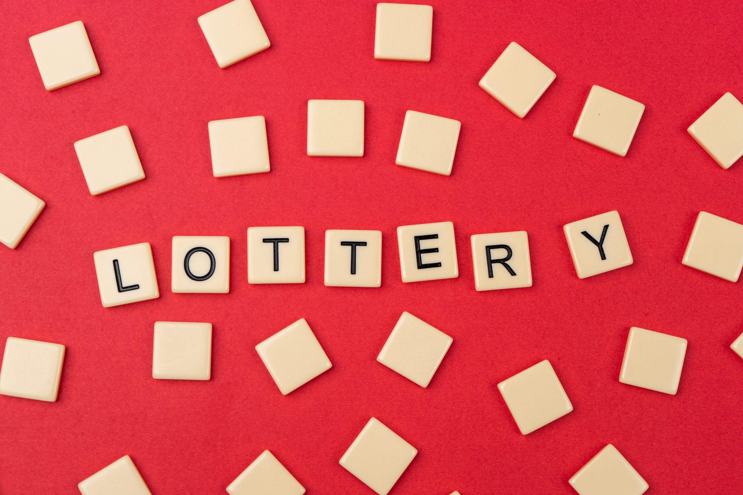 Lottery written on scrabble