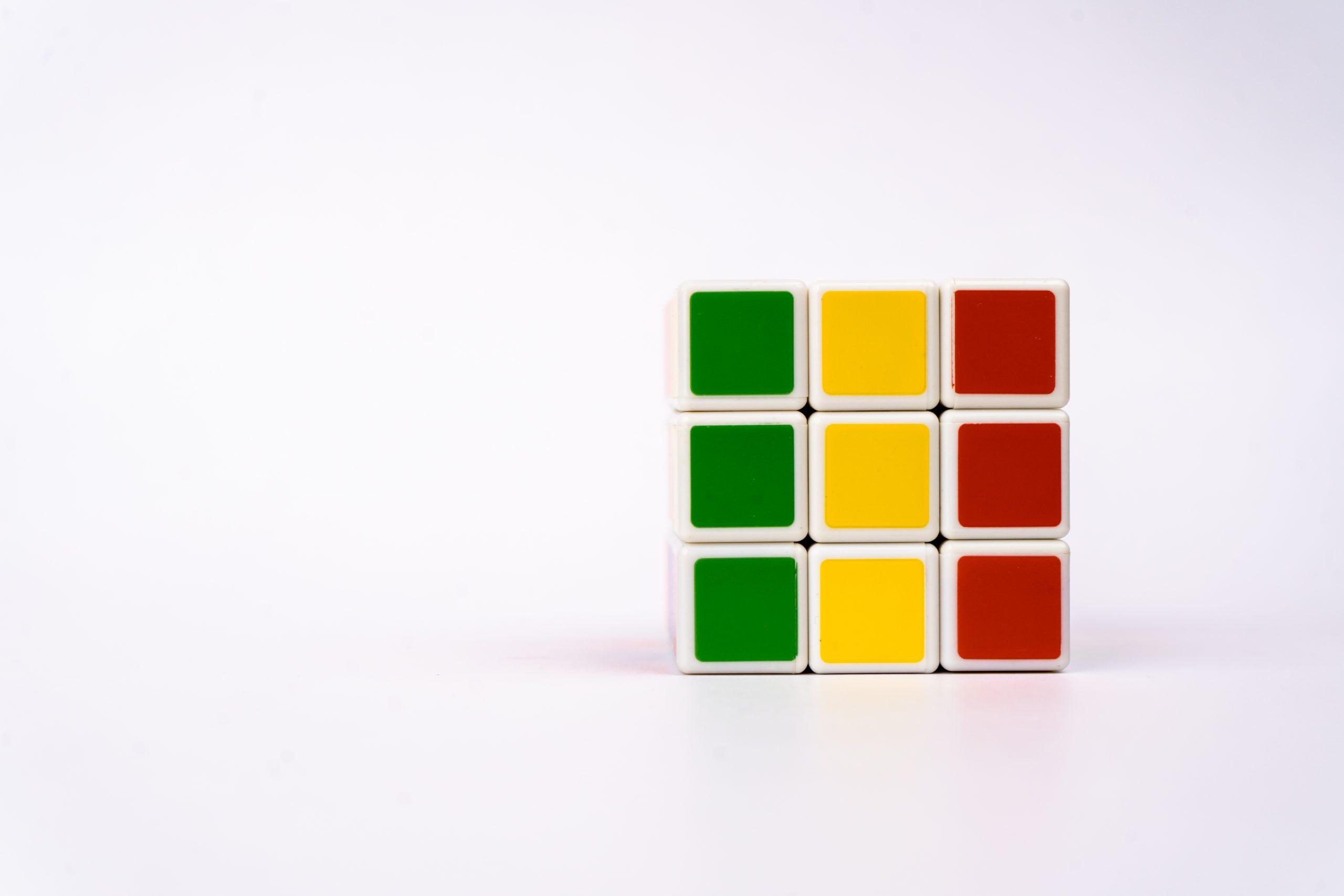 Mali flag on cube