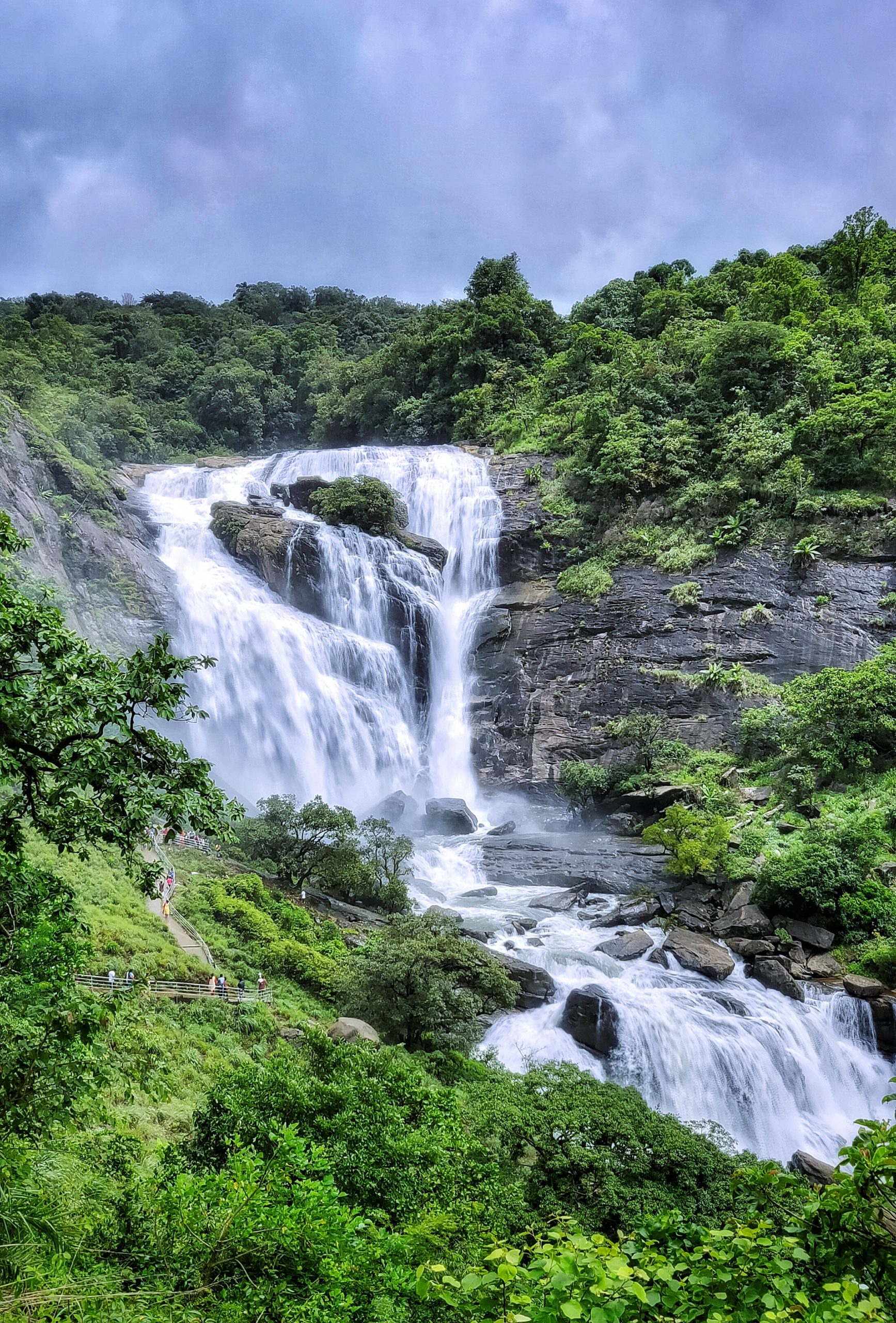 A beautiful view of a waterfall