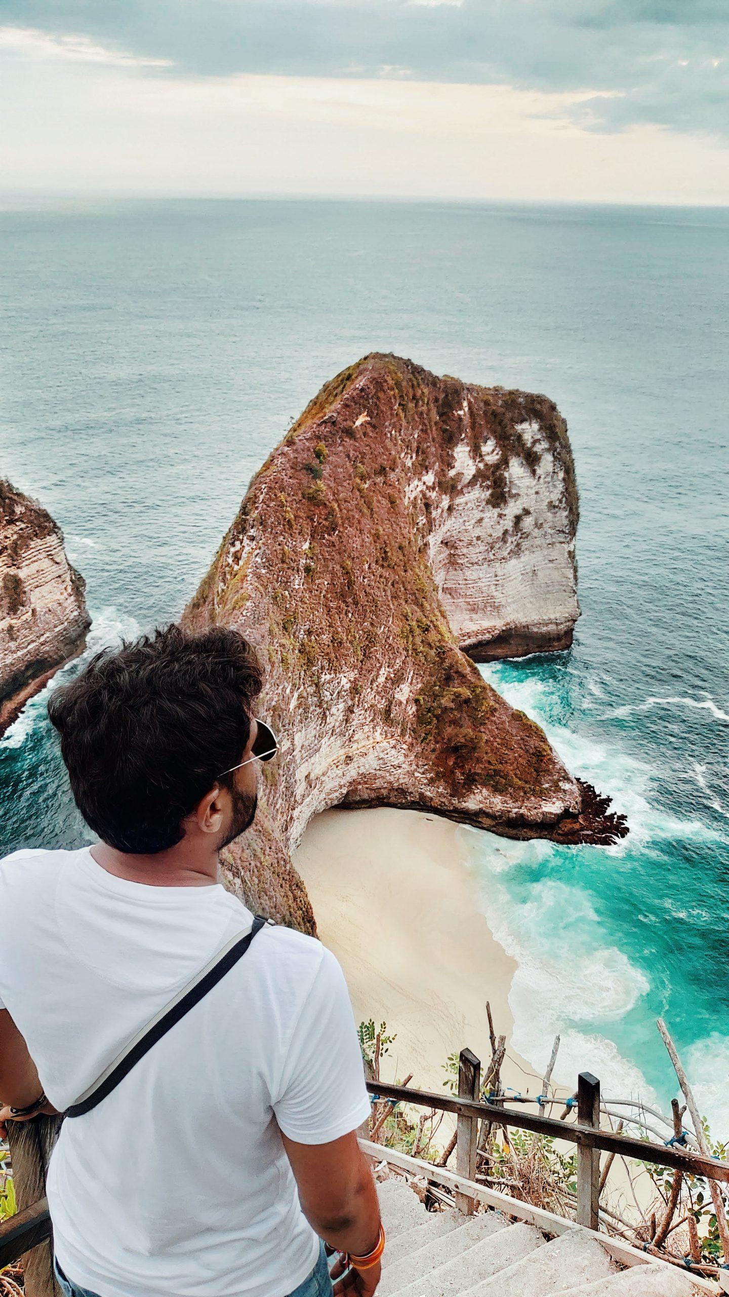 Man overlooking the ocean