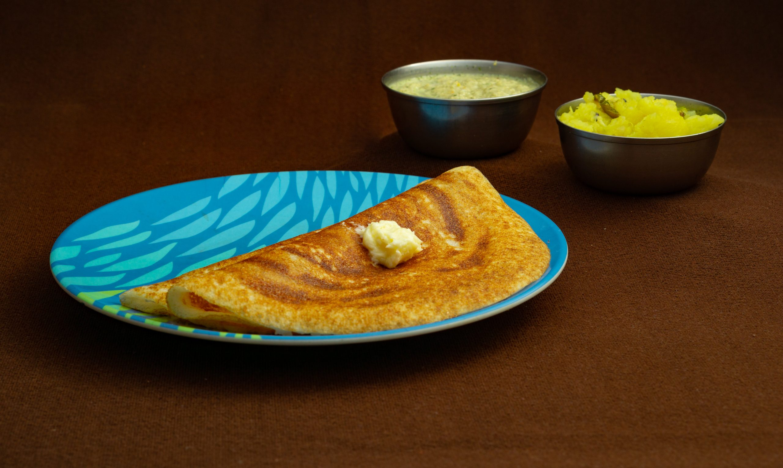 Masala Dosa with Butter