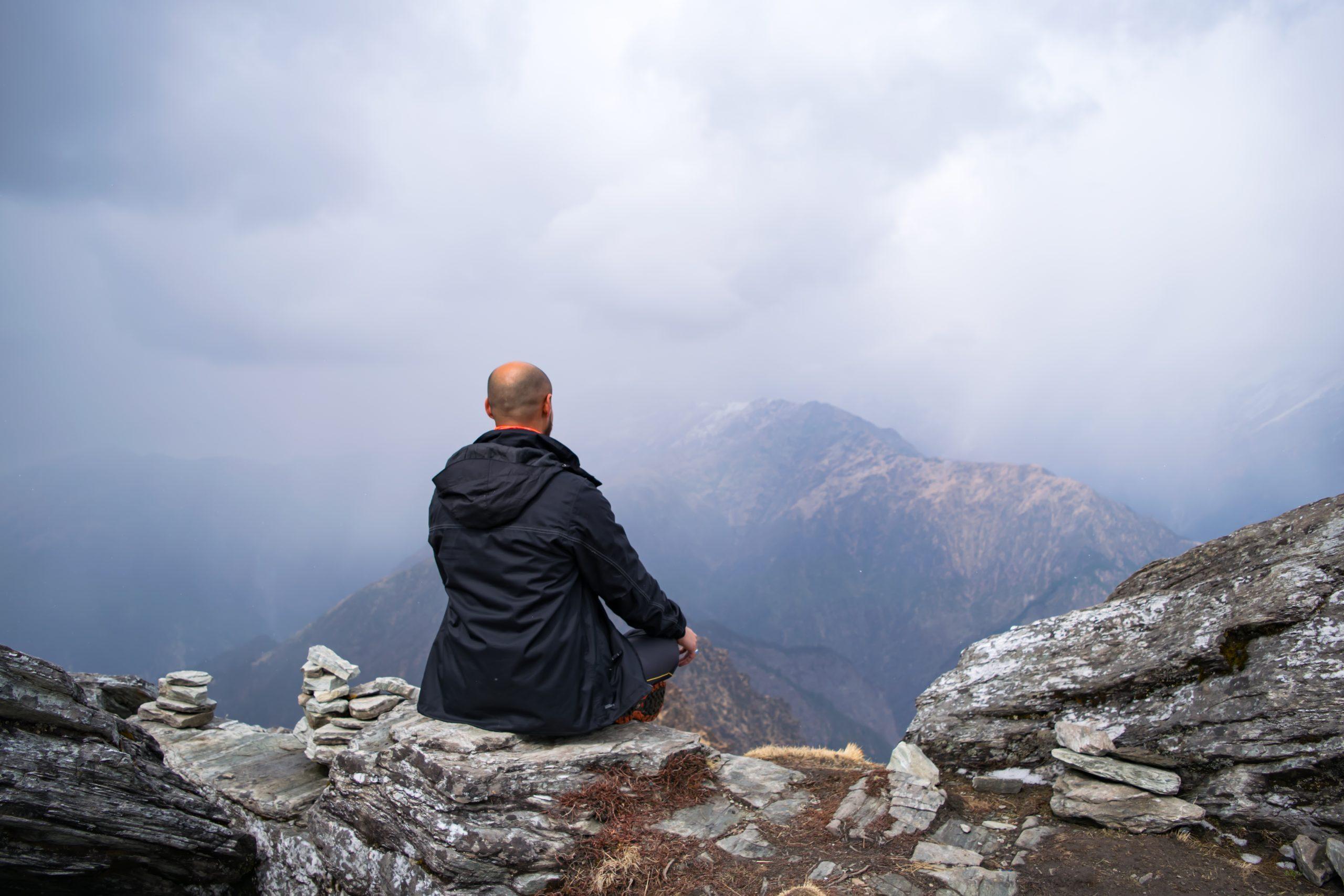 Meditation in Himalayas