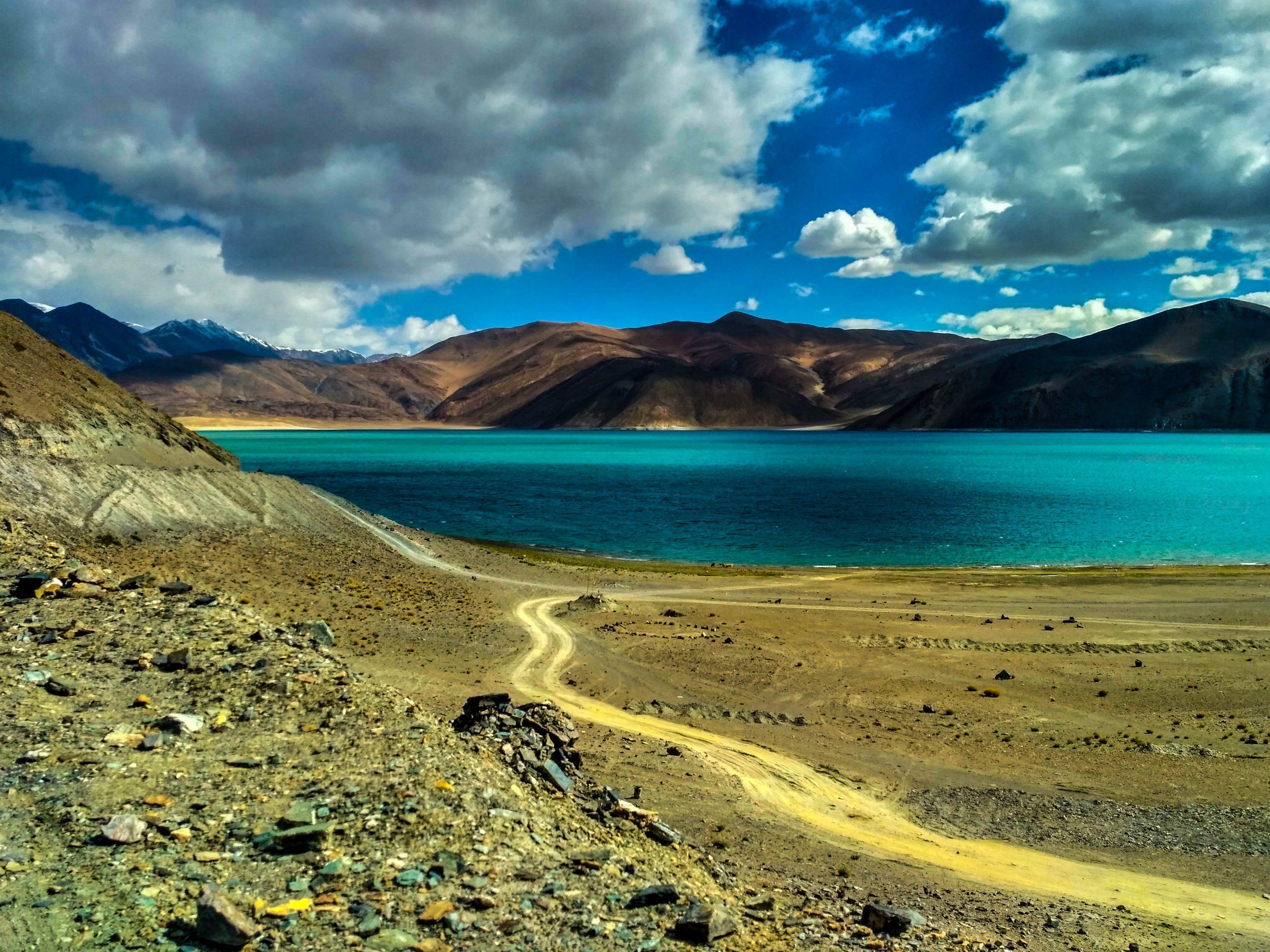 Beautiful Pangong lake in Leh.