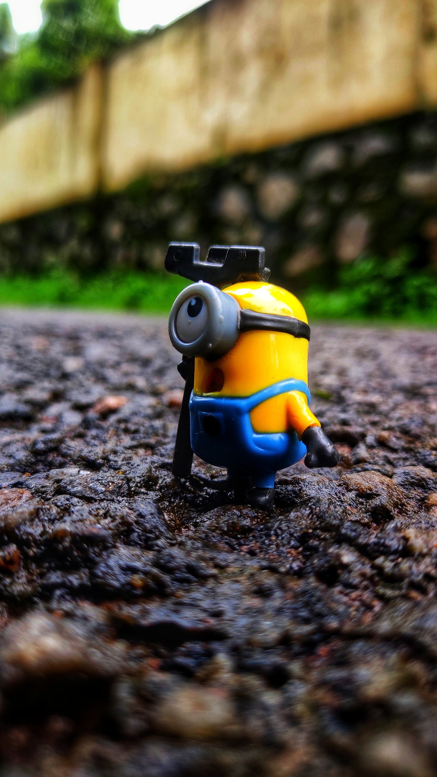 minion toy on the ground