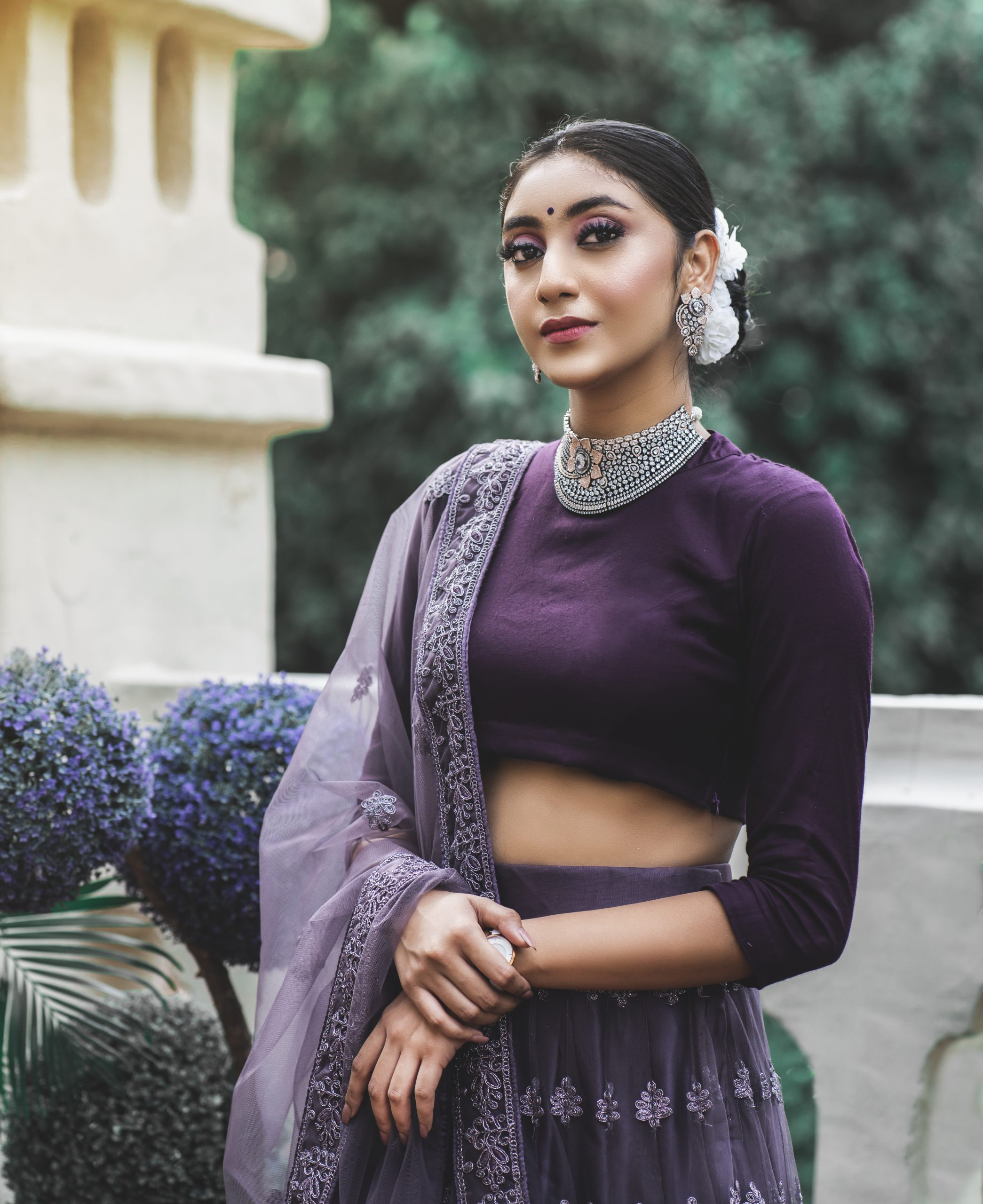 Model in Indian Traditional Wear