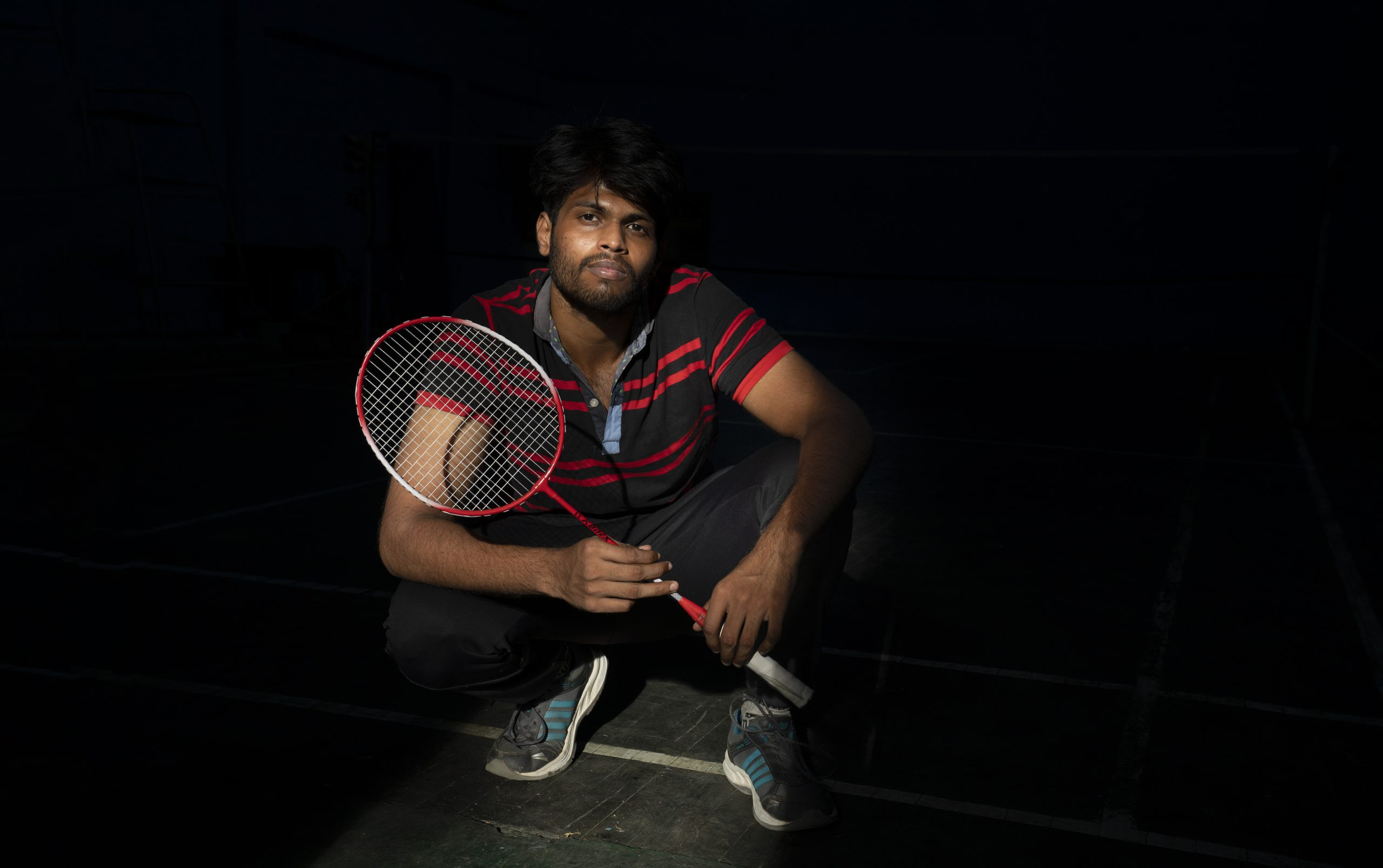 Model shoot for badminton