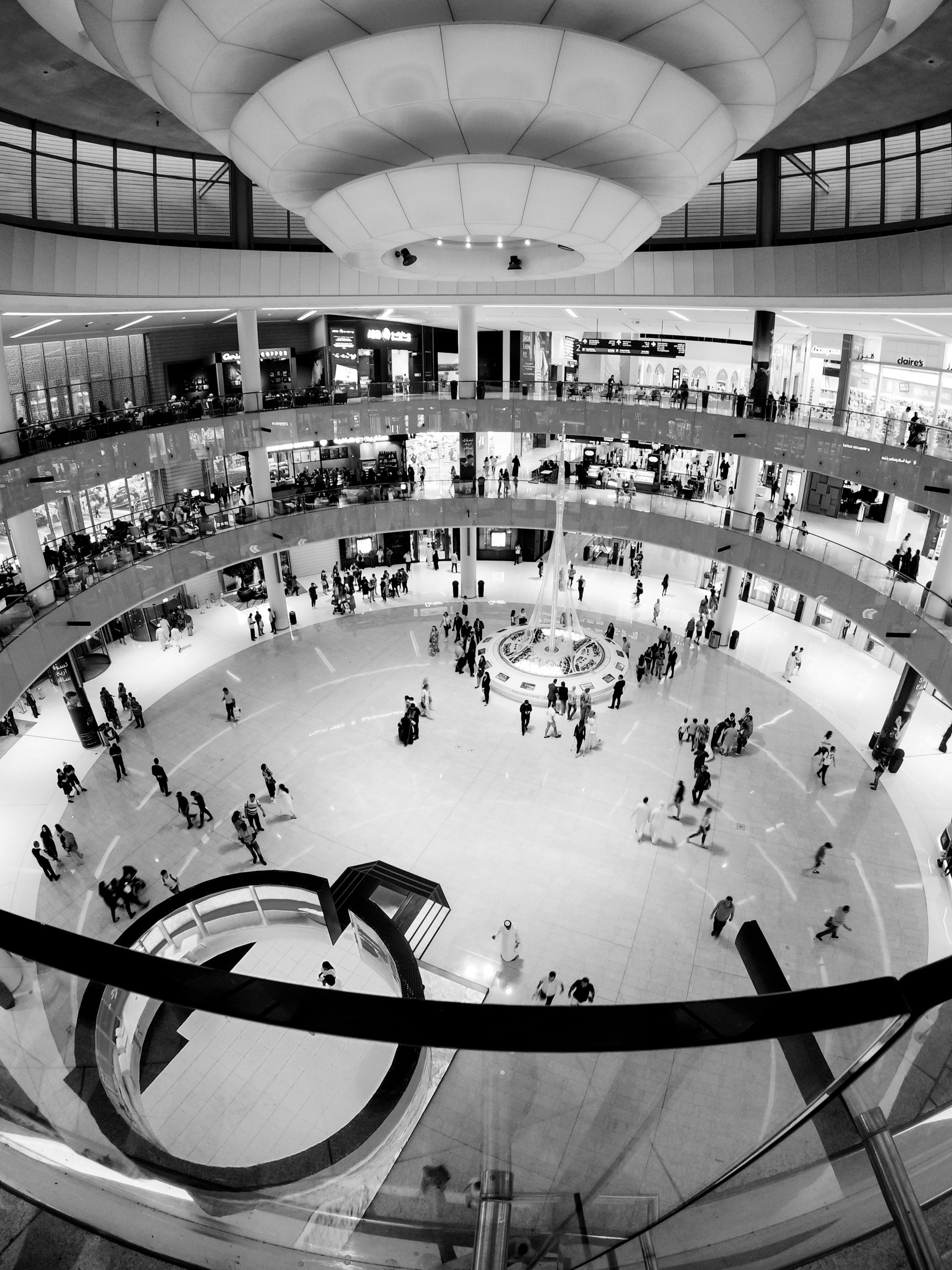 Monochromatic Mall View