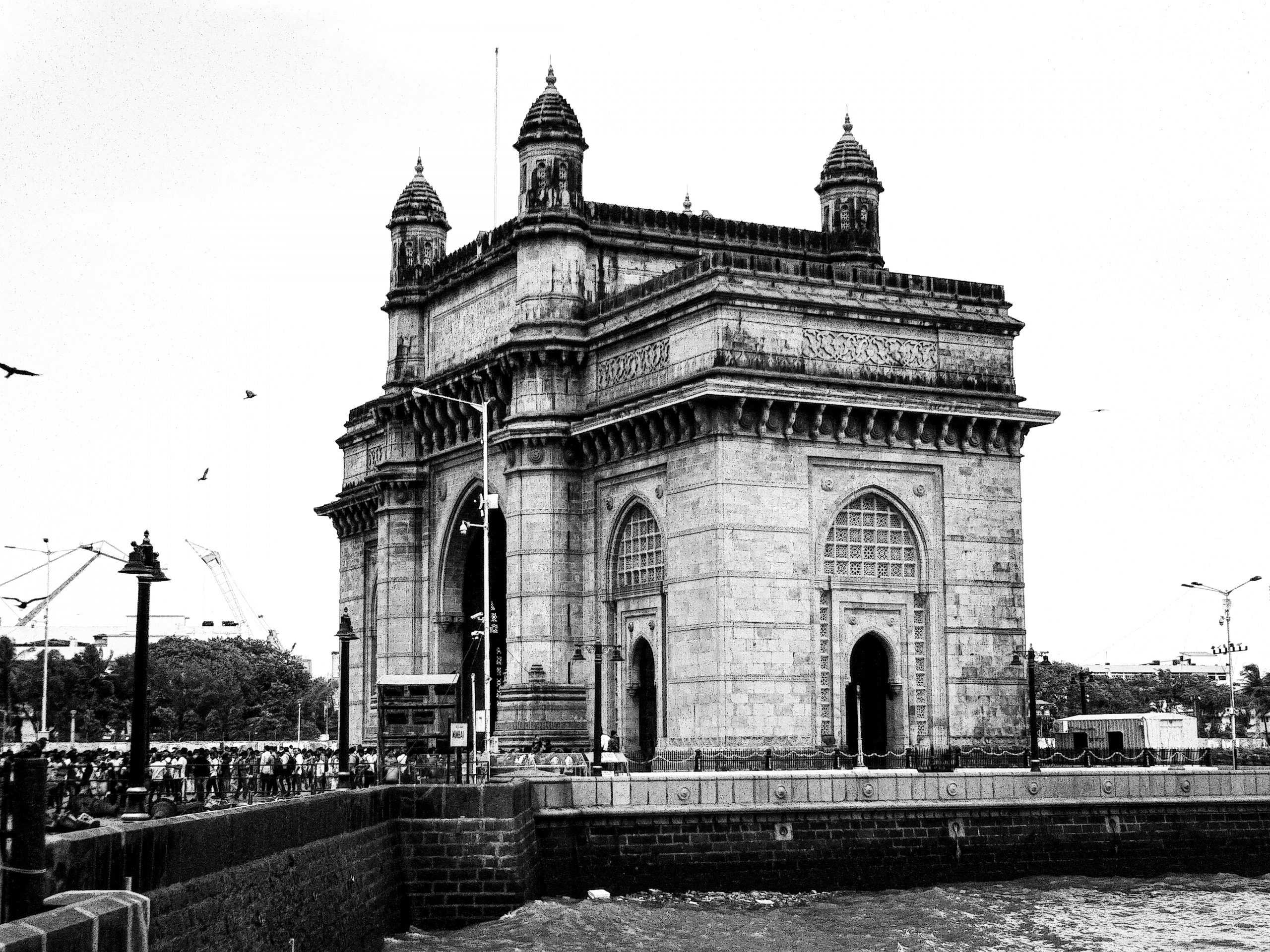 Gateway Of India Mumbai on Black and White