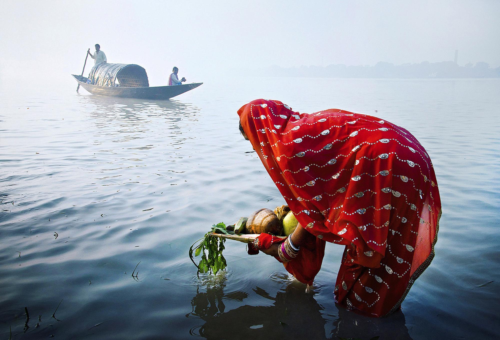 Morning Ritual in the Sea