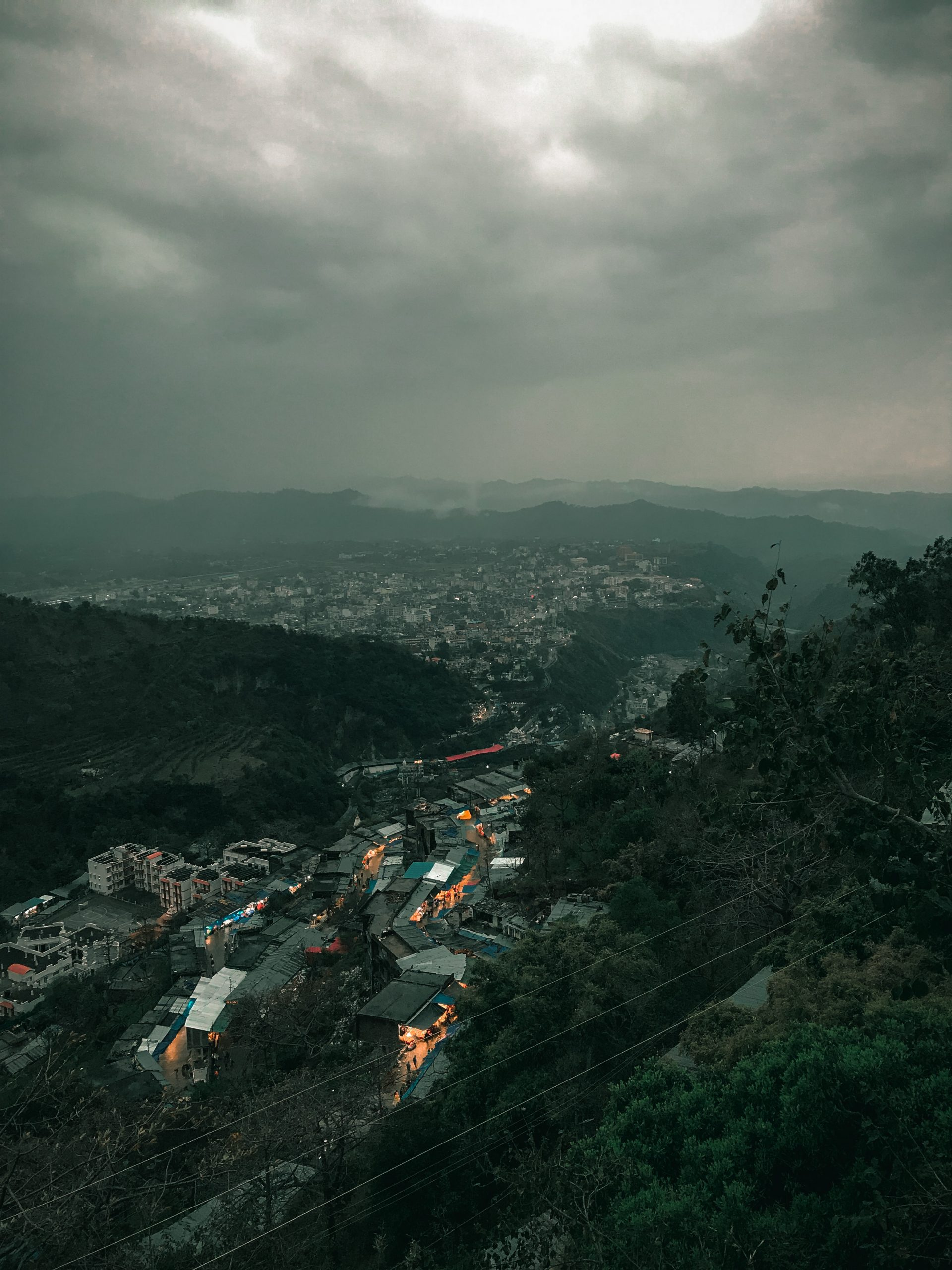 city view from mountains