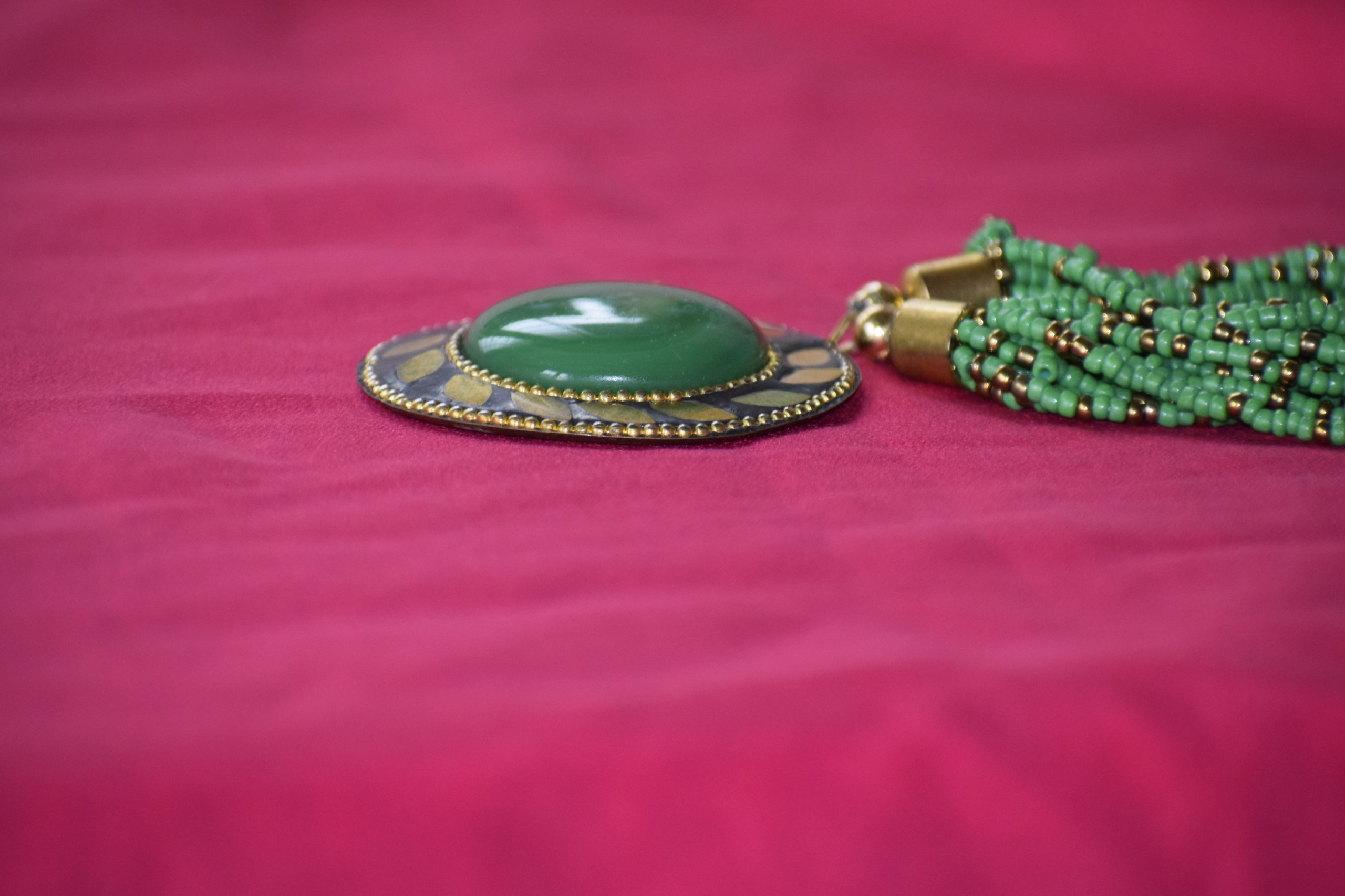 Necklace with a Jade Gemstone