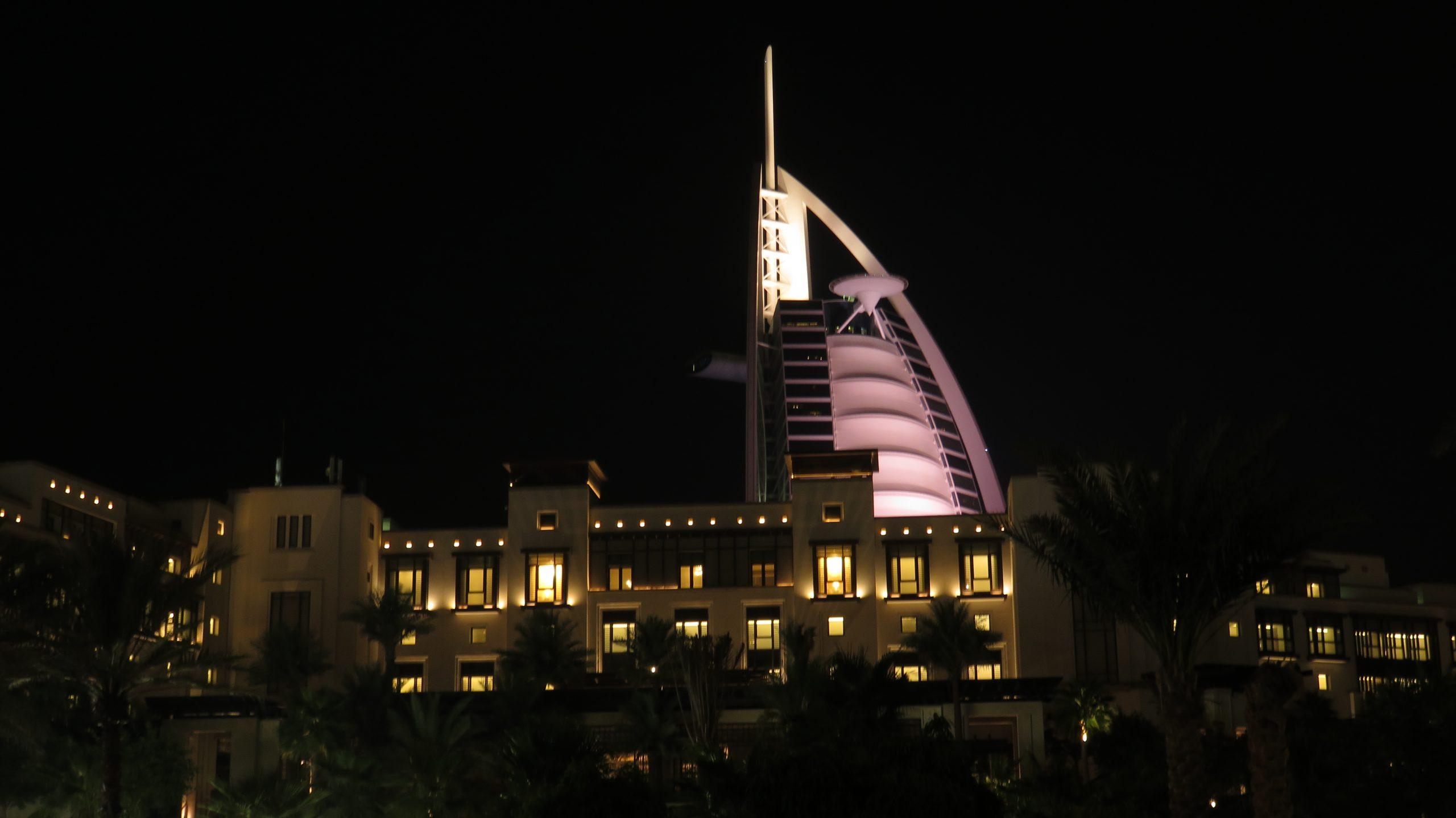 Night Shot of the Hotel