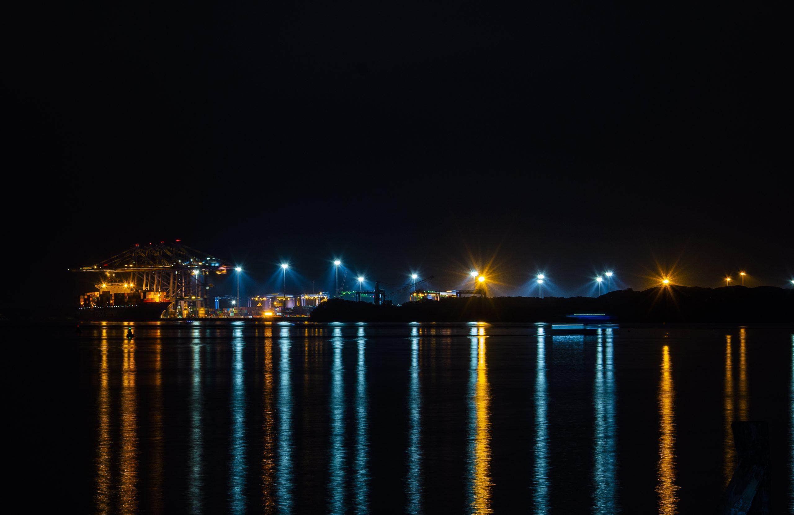 Night view of Docking harbor - Kochi ,Kerala
