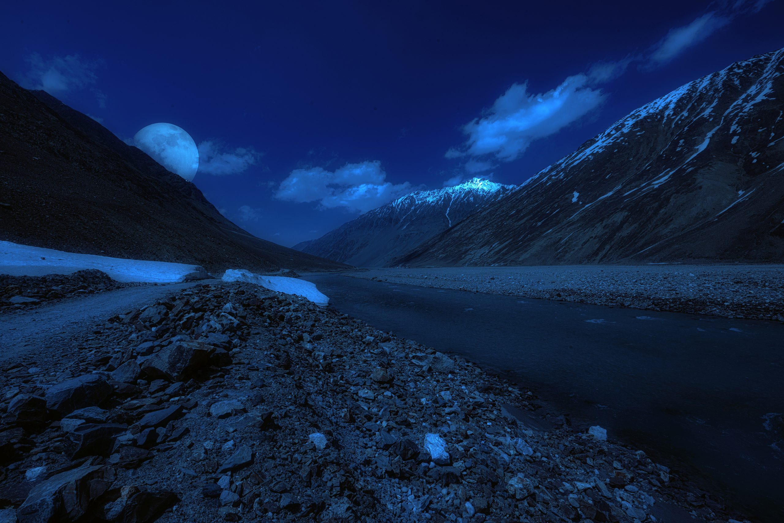 Night view of mountains