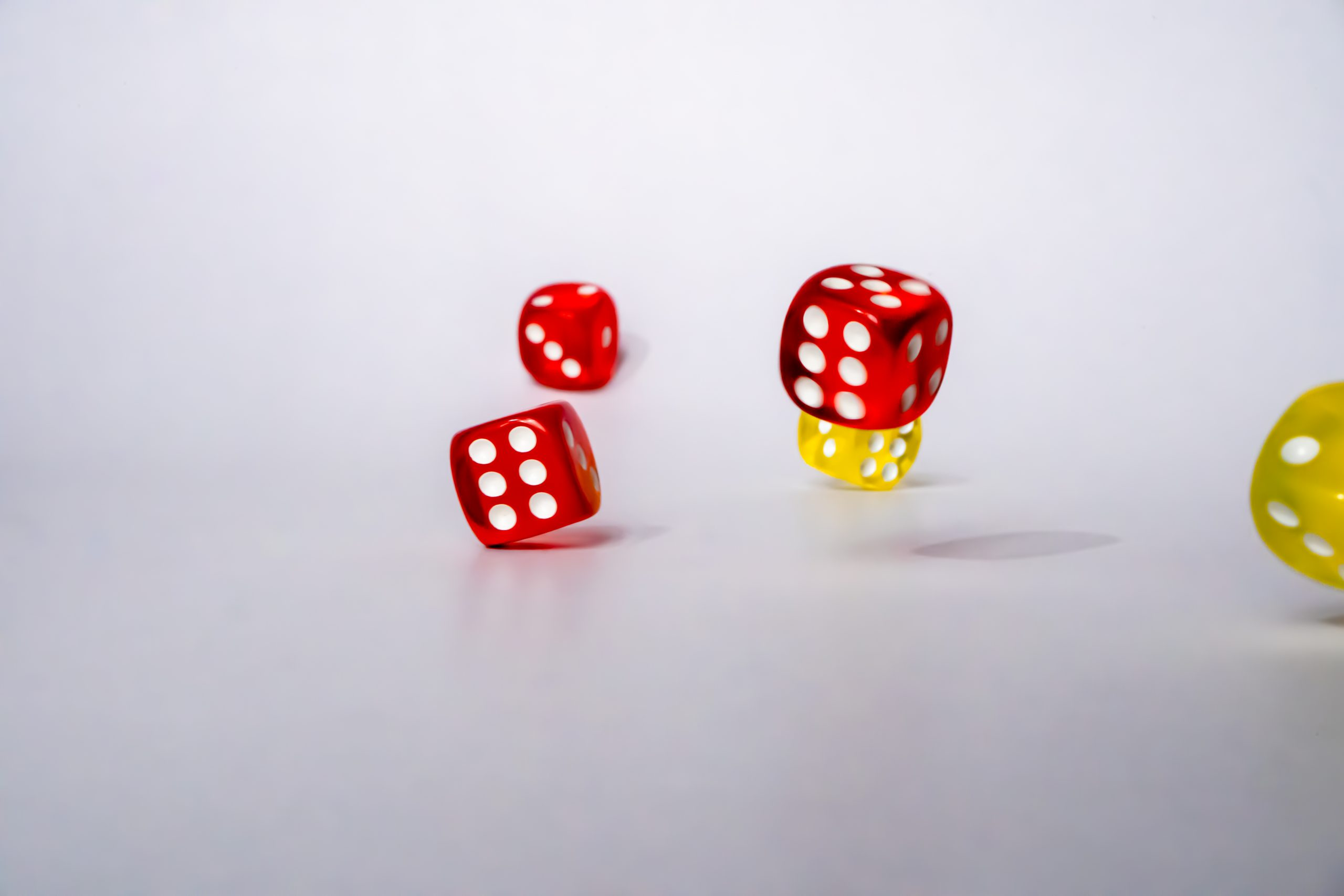 Number six on rolling dice