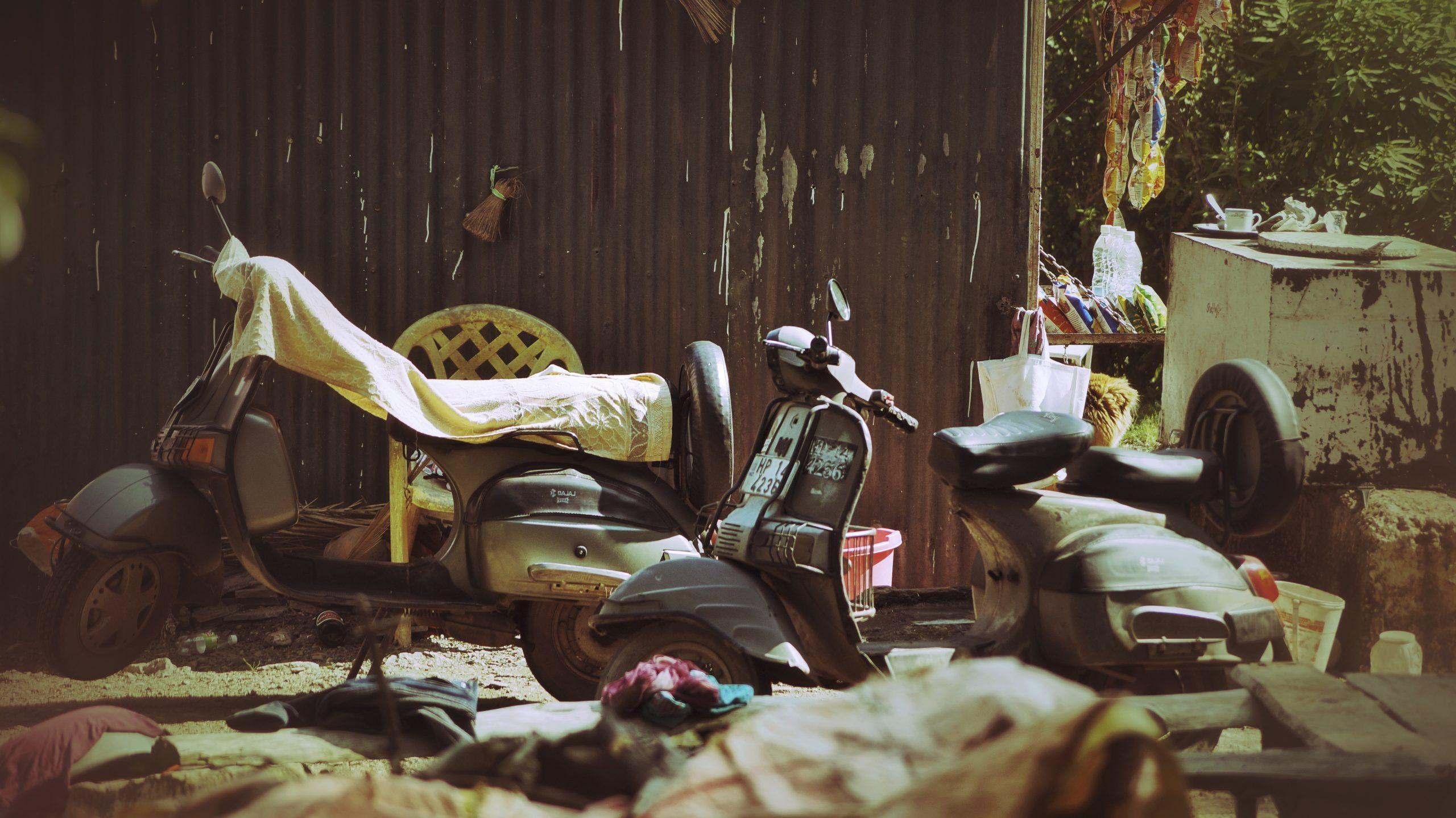 Old Bajaj chetak scooters