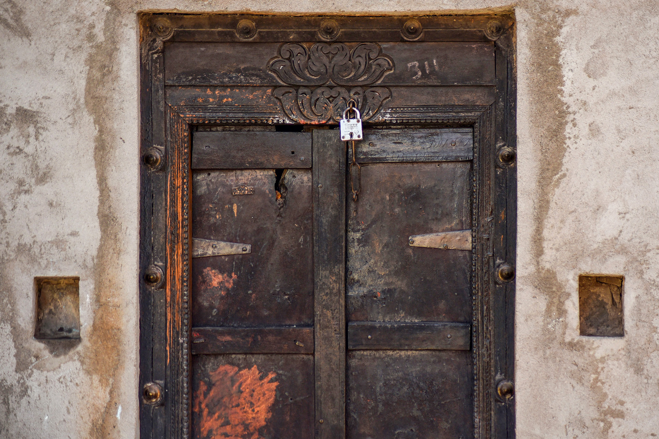 An old locked door.