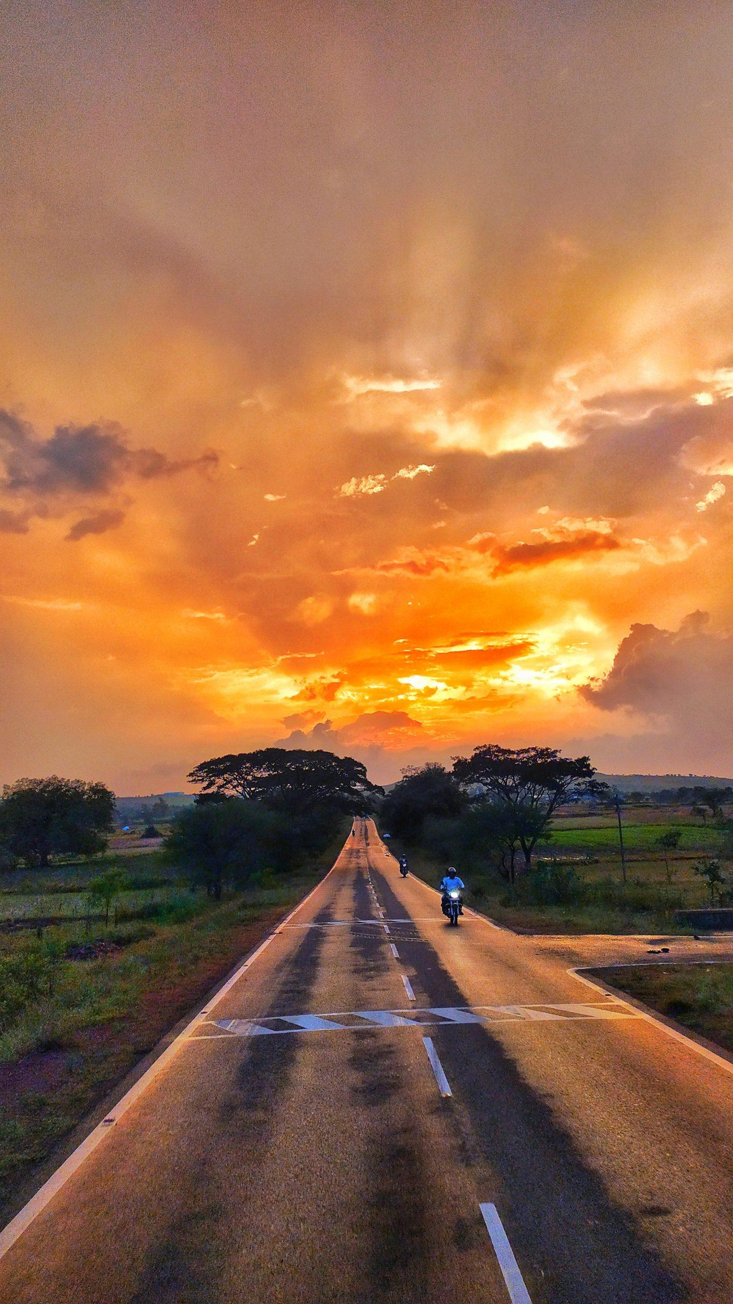 Sunset in rainy season