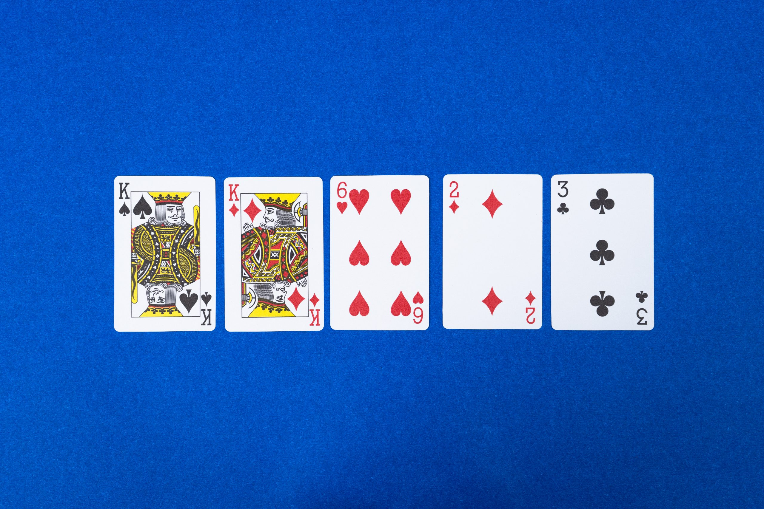Pair of kings in poker game