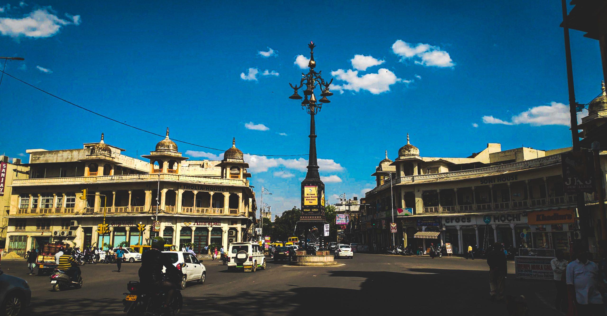 Panch Batti locality in Jaipur