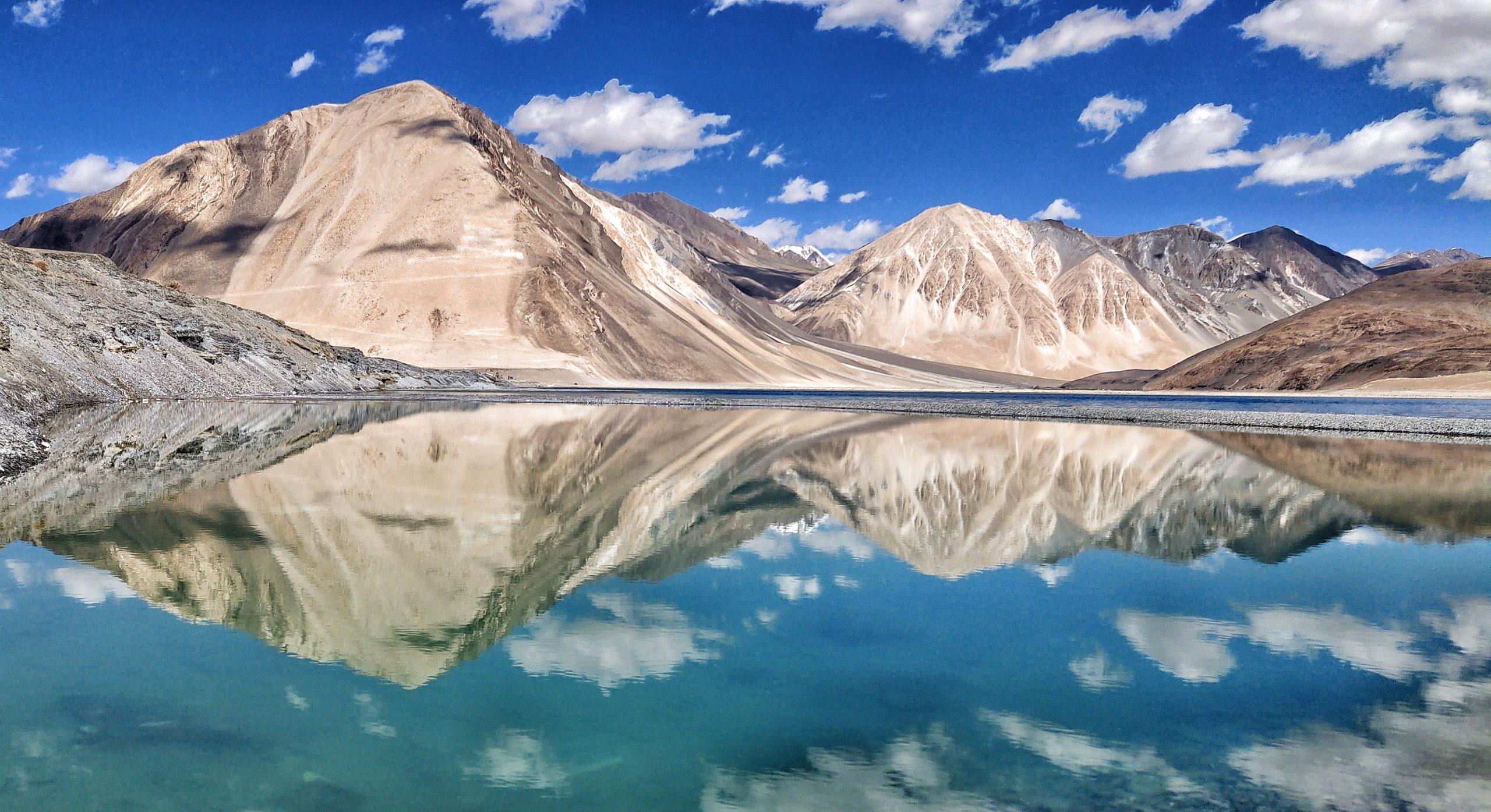 Pangong Tso in Himalayas