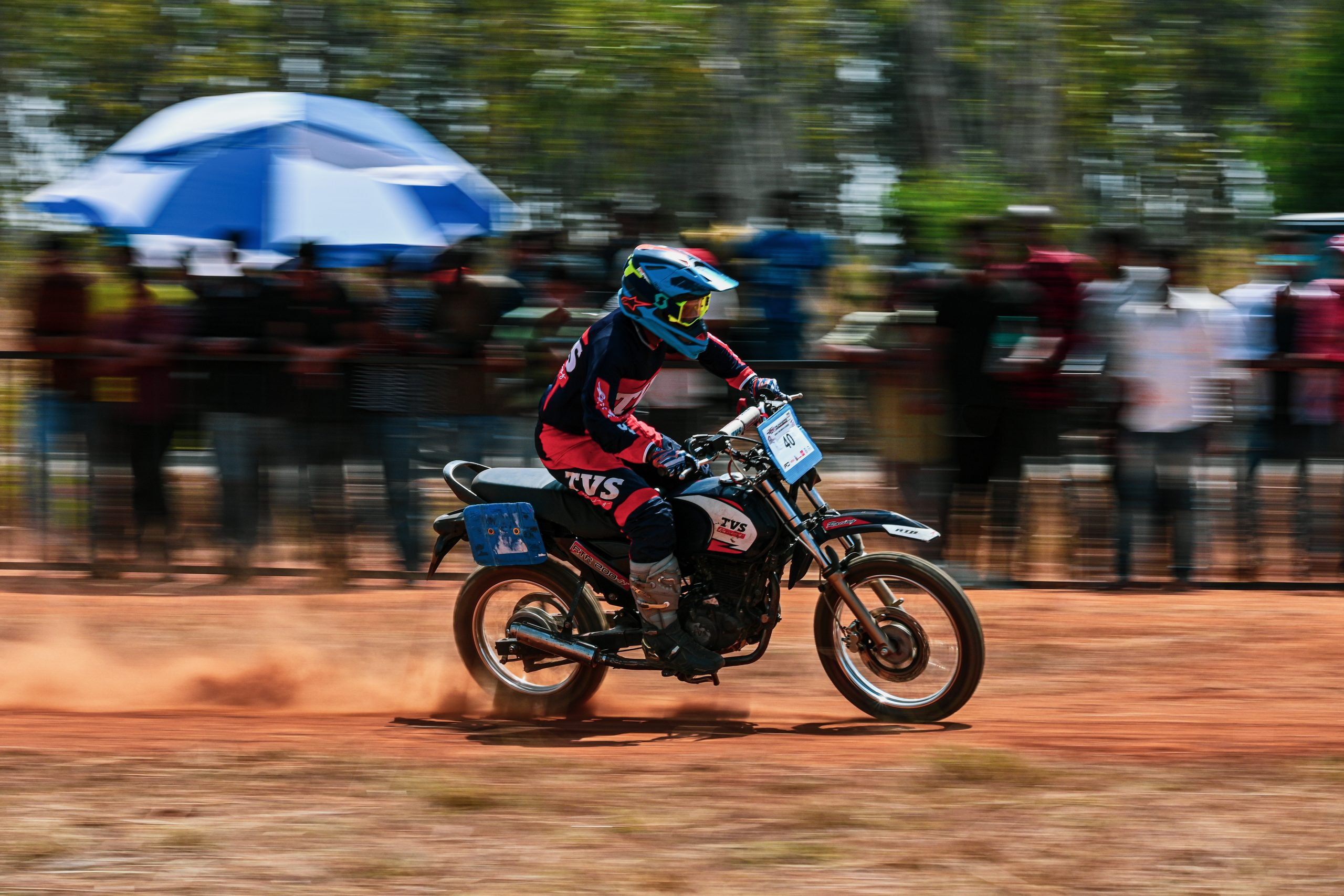 A bike rider performing dirk biking