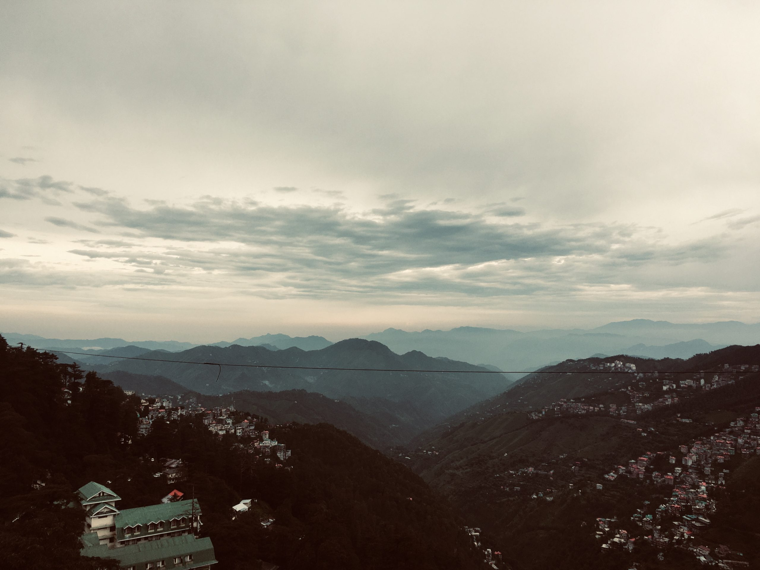 Panoramic cityscape of Shimla