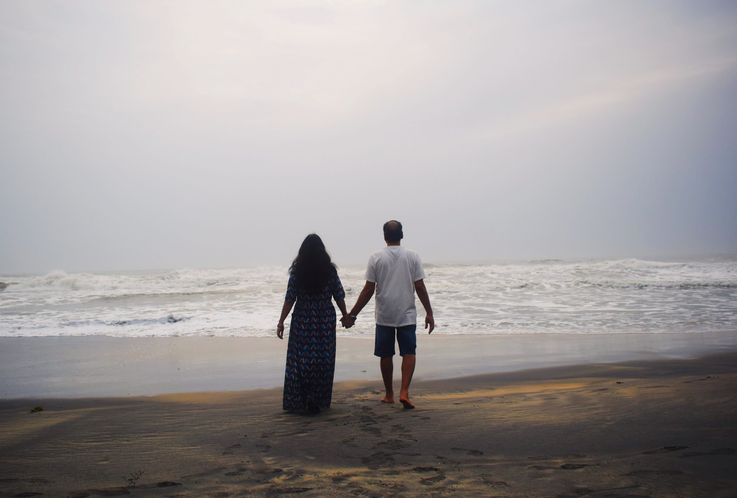 A couple enjoying on the beach