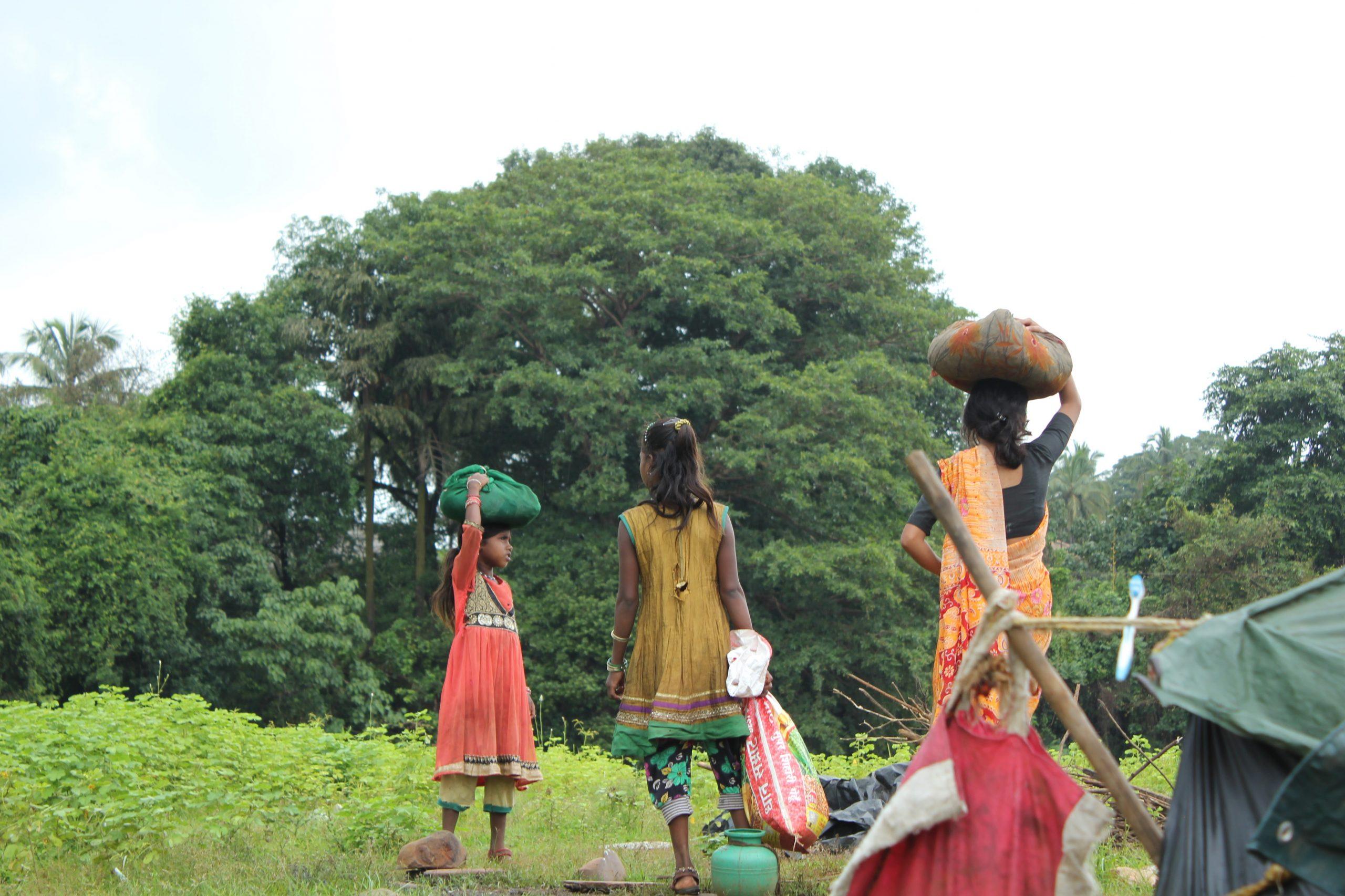 People of a slum area