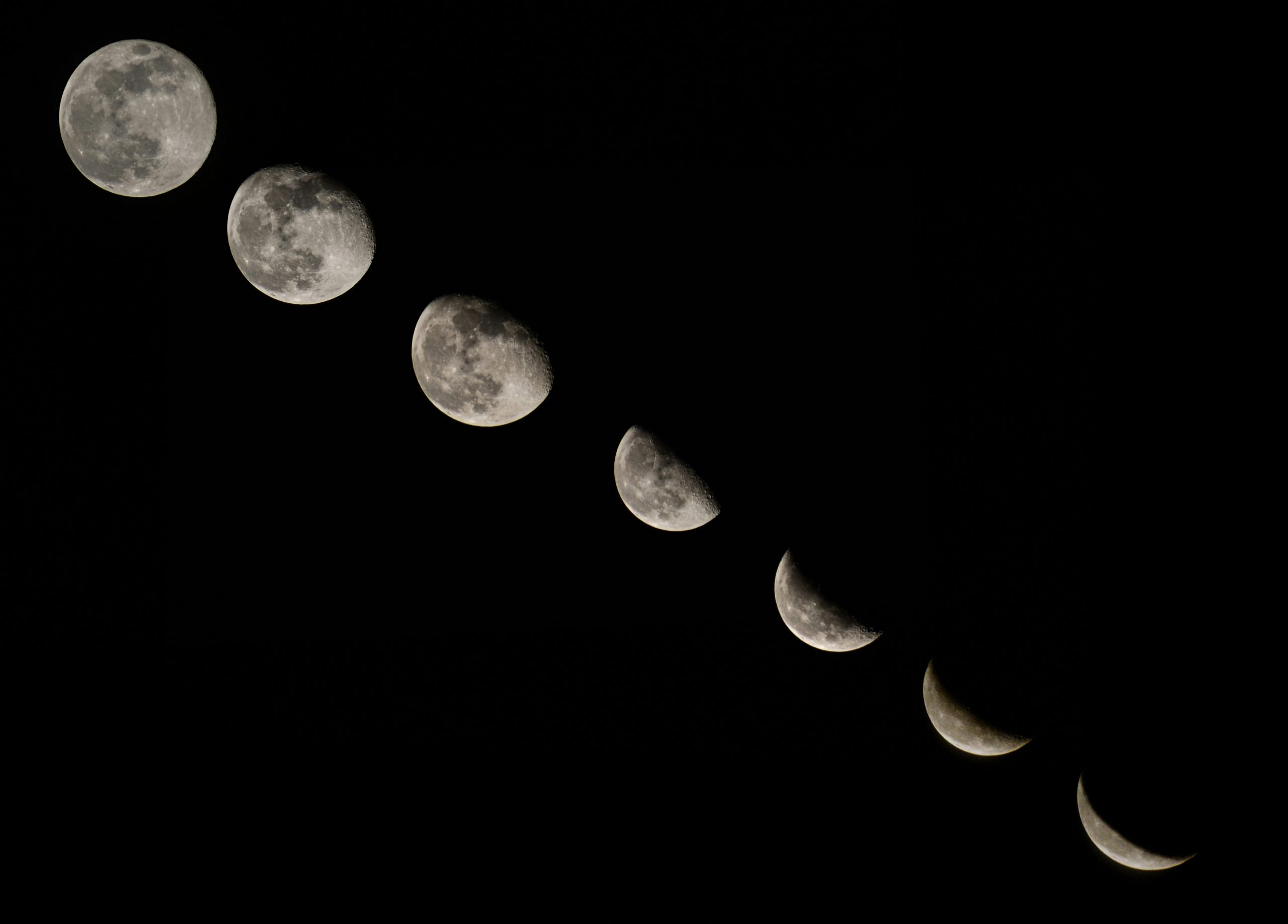 Different phases of moon.