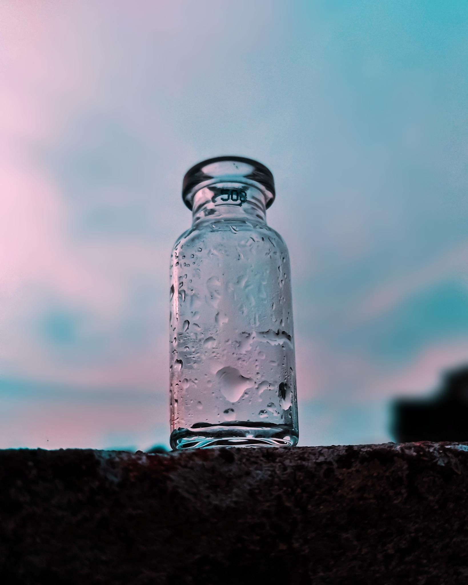 An empty glass bottle