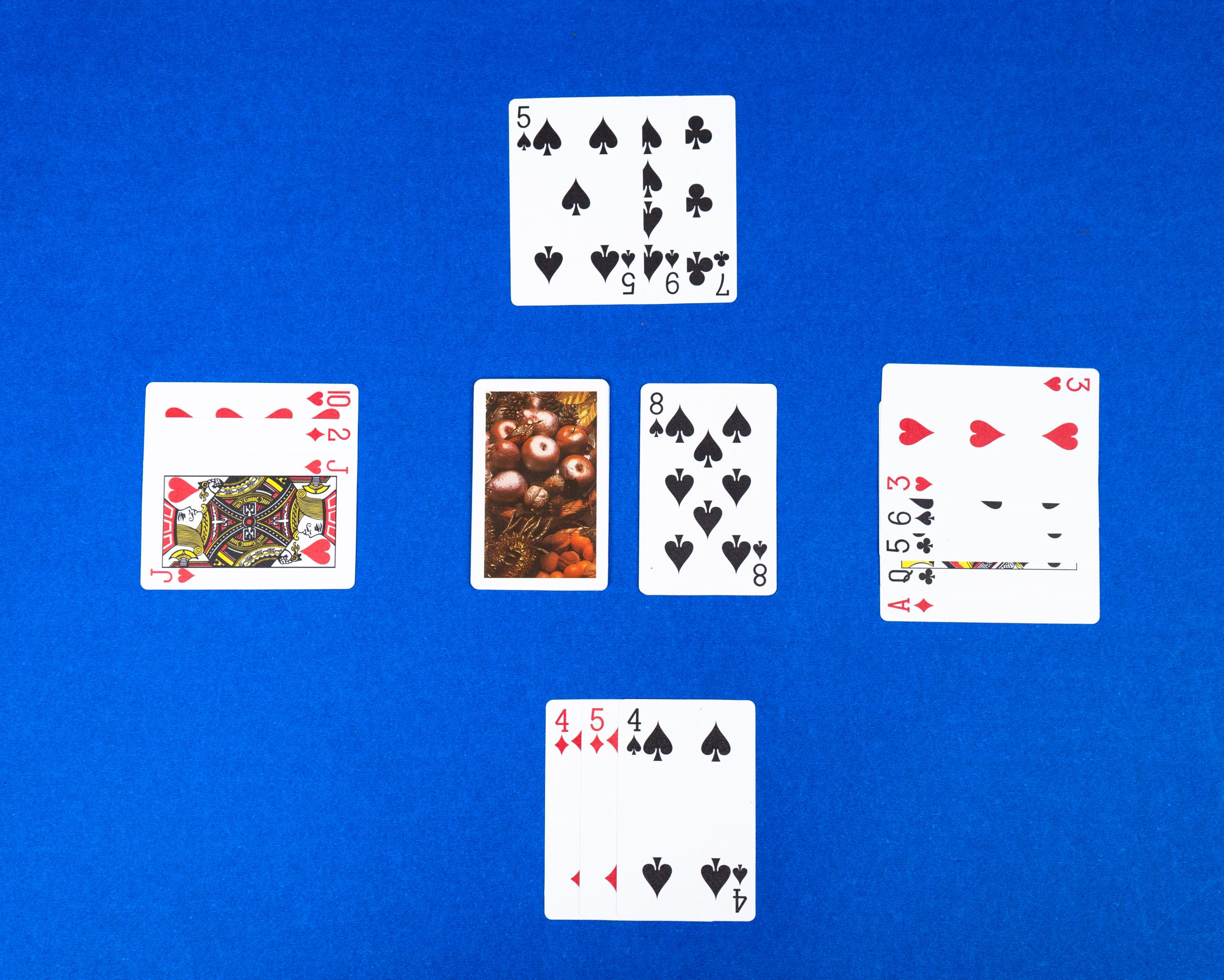 Playing card on the table