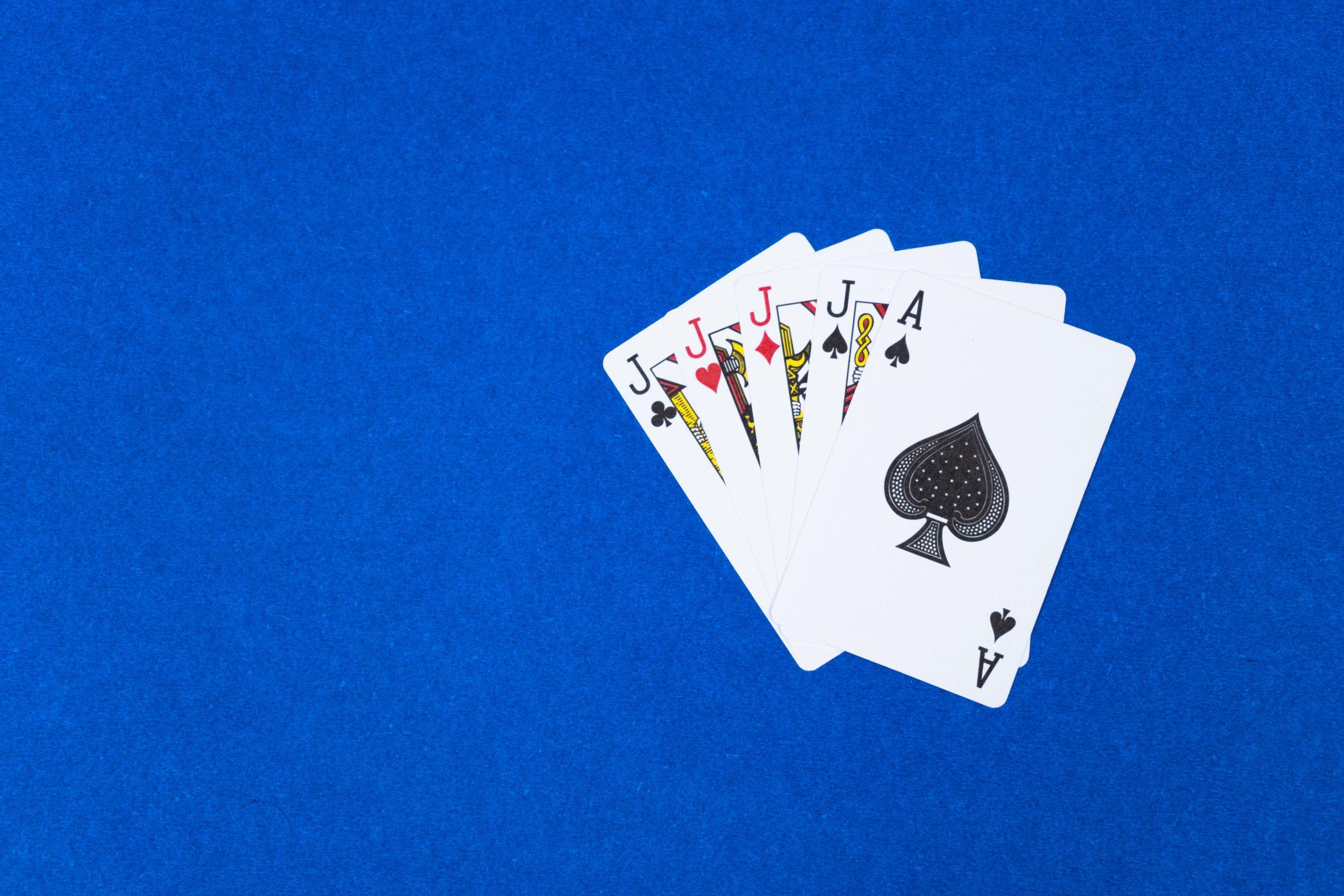 Poker Four of a kind hand