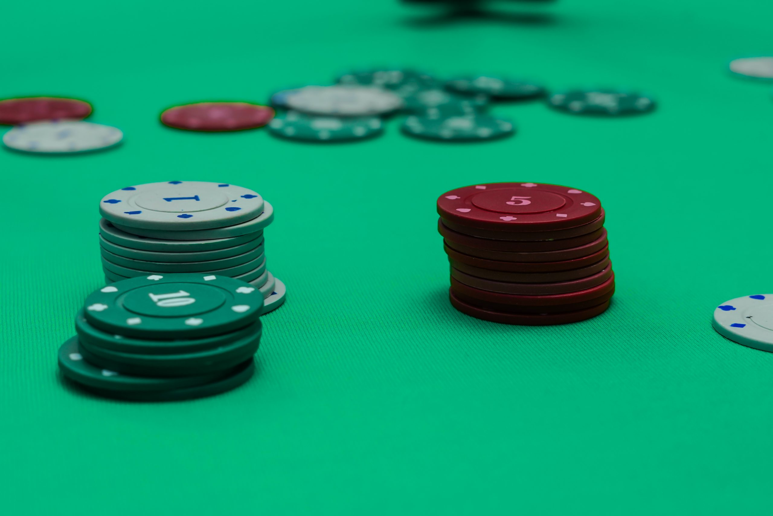 Poker in the Table on Focus