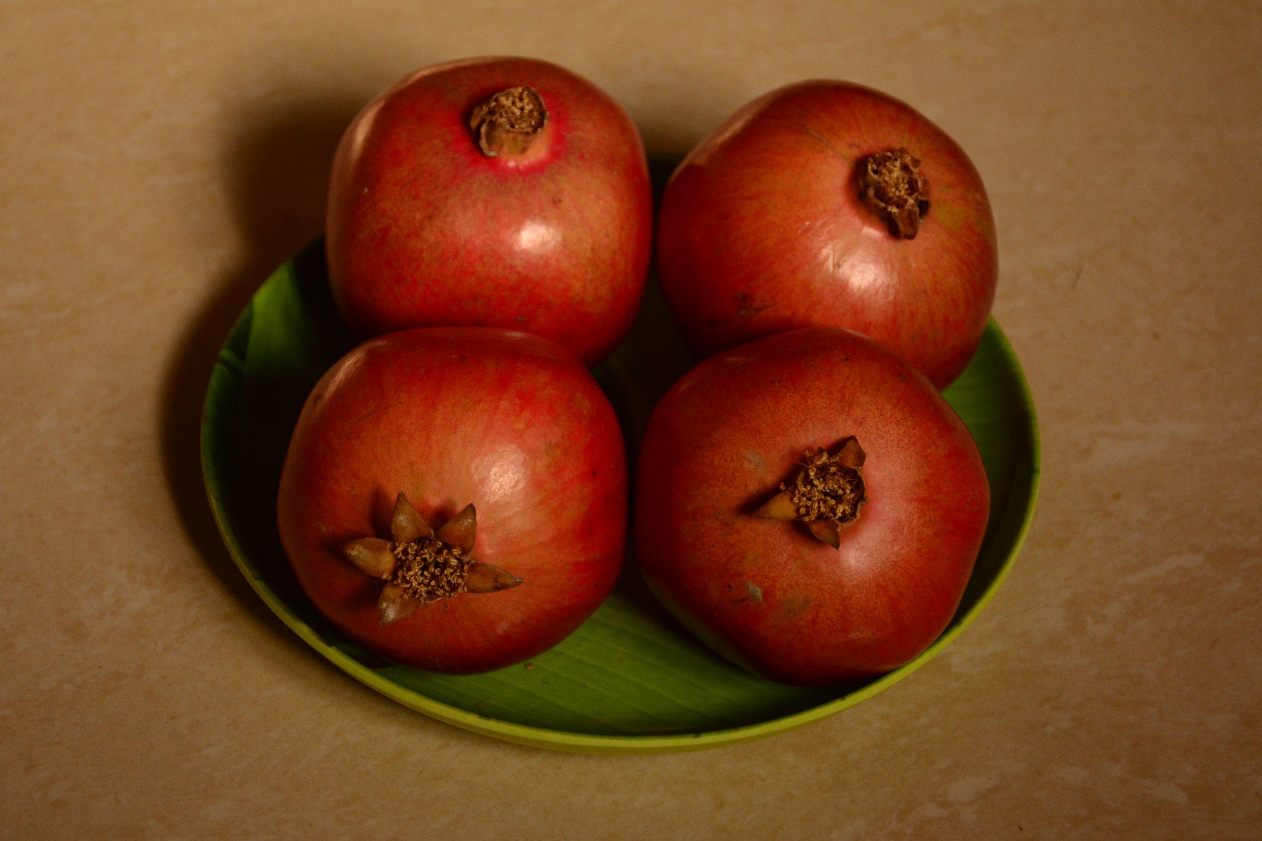 Pomegranates on a Plate